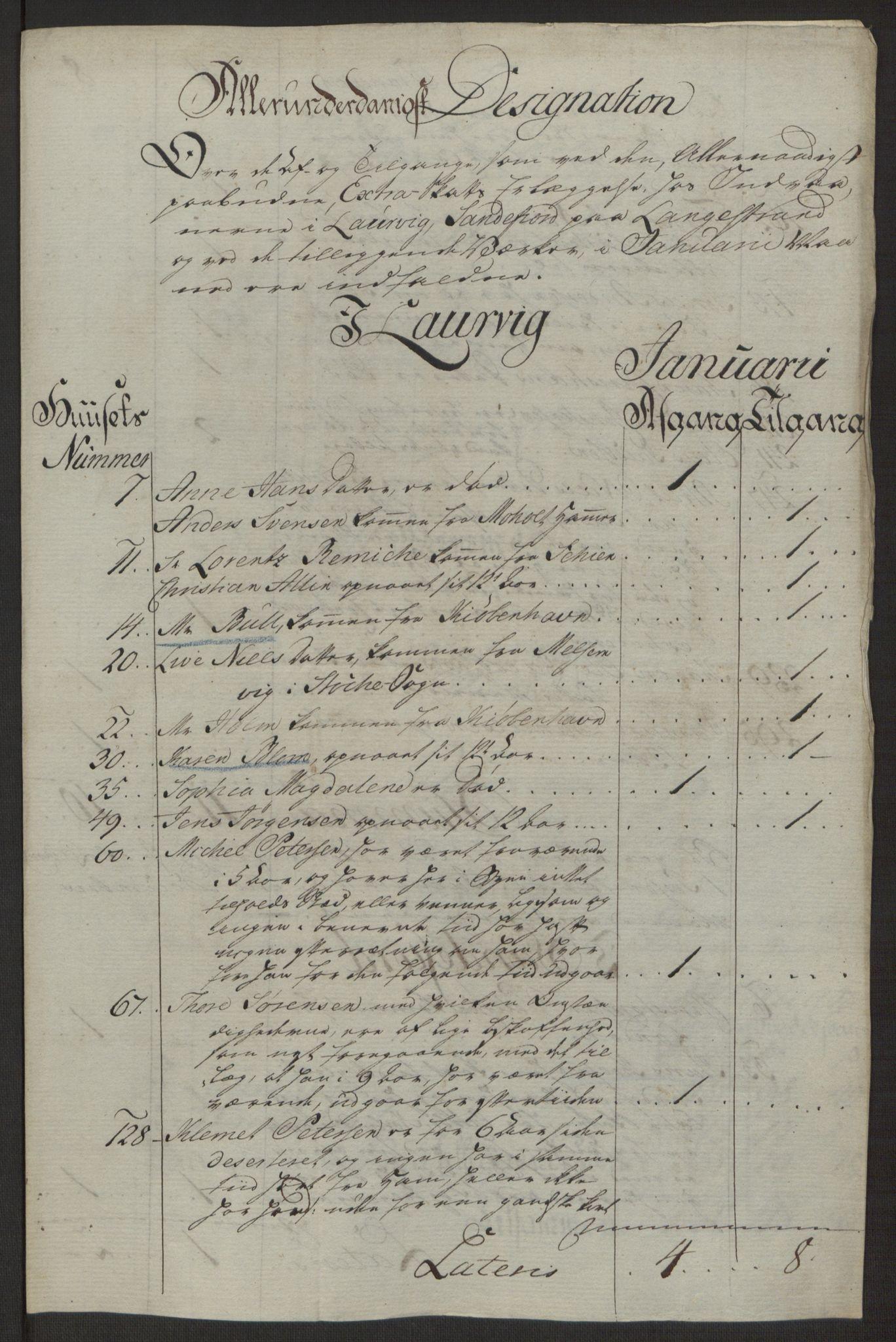 RA, Rentekammeret inntil 1814, Reviderte regnskaper, Byregnskaper, R/Ri/L0183: [I4] Kontribusjonsregnskap, 1762-1768, s. 96