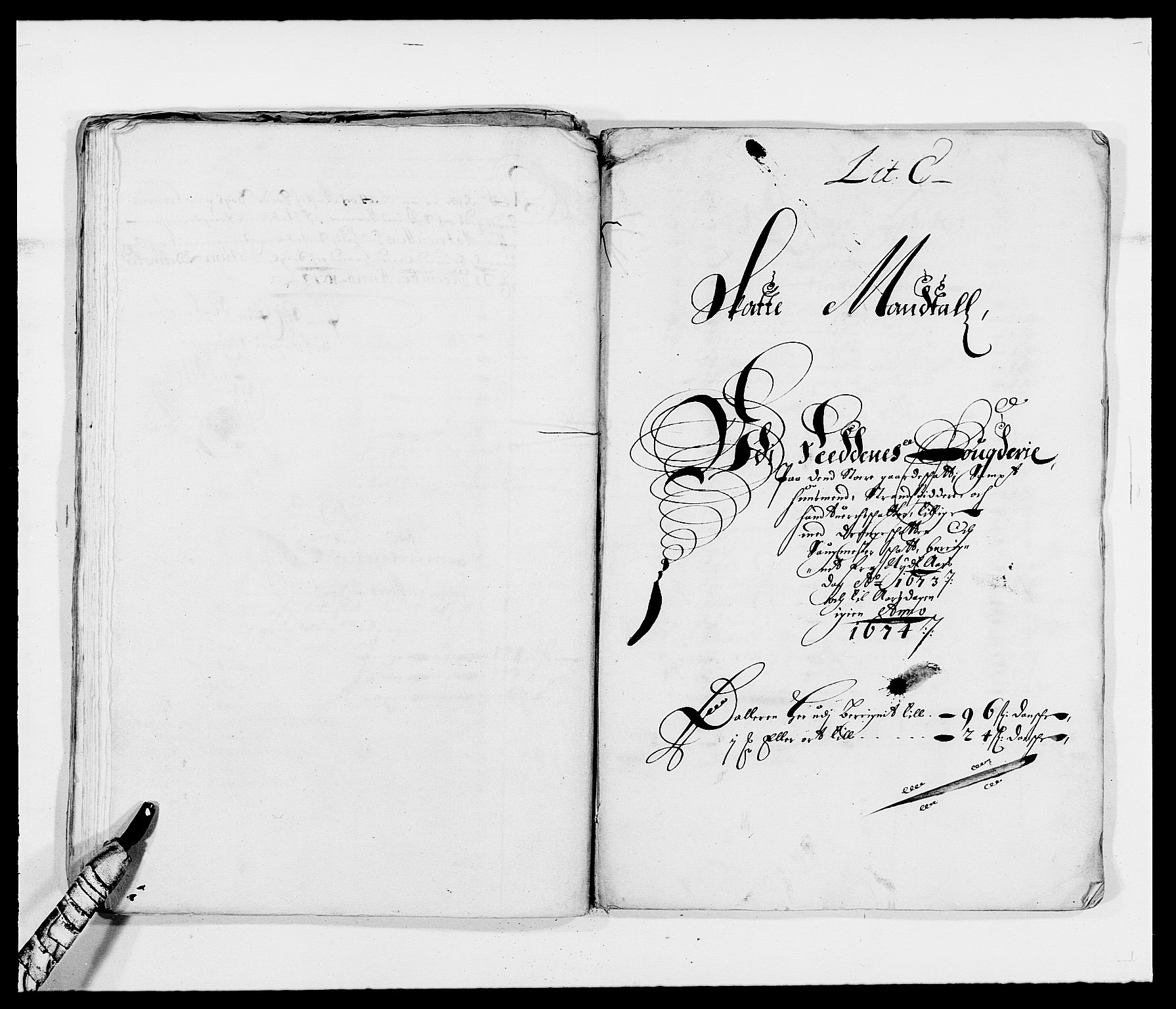 RA, Rentekammeret inntil 1814, Reviderte regnskaper, Fogderegnskap, R39/L2300: Fogderegnskap Nedenes, 1672-1674, s. 171
