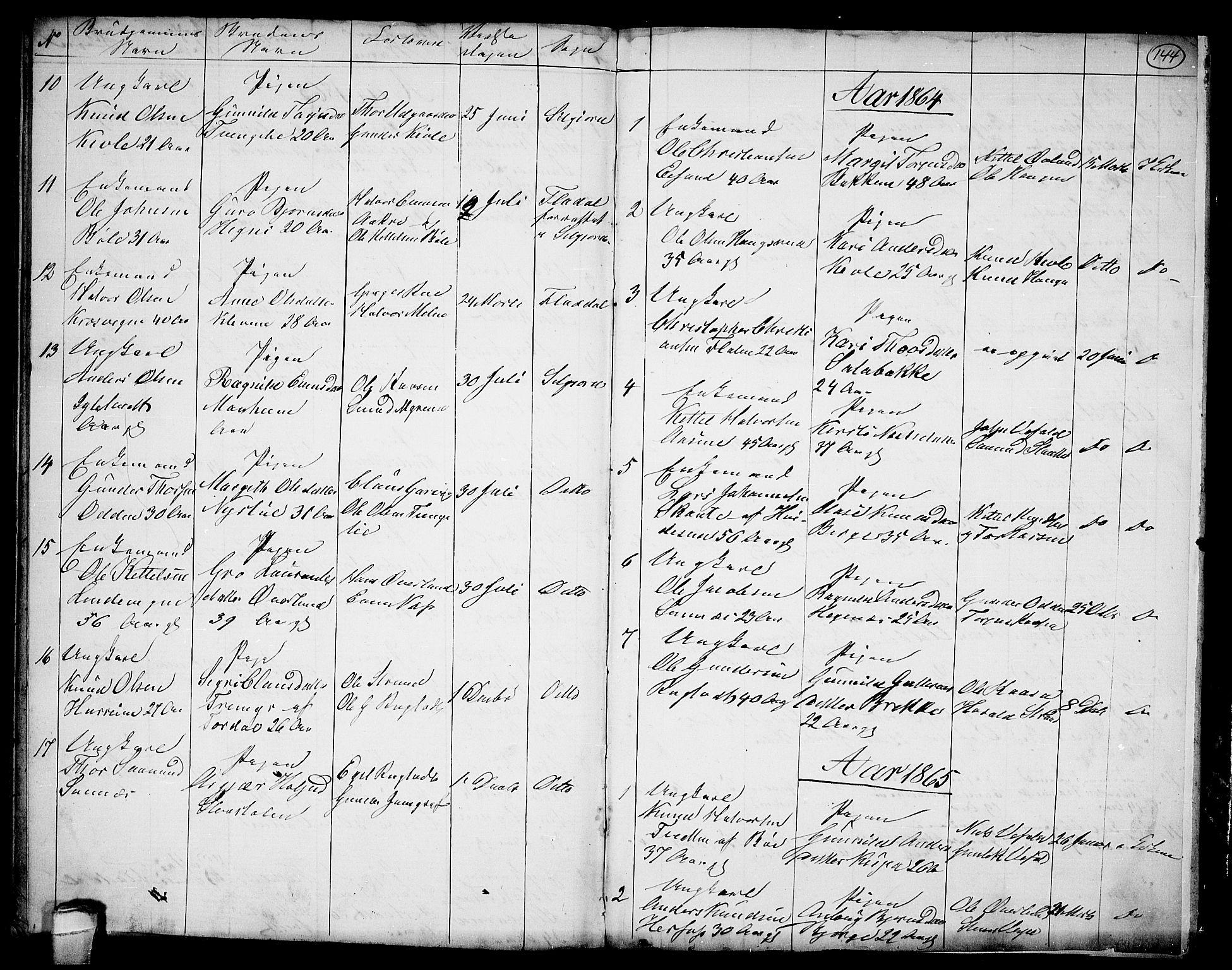 SAKO, Seljord kirkebøker, G/Ga/L0002: Klokkerbok nr. I 2, 1838-1866, s. 144