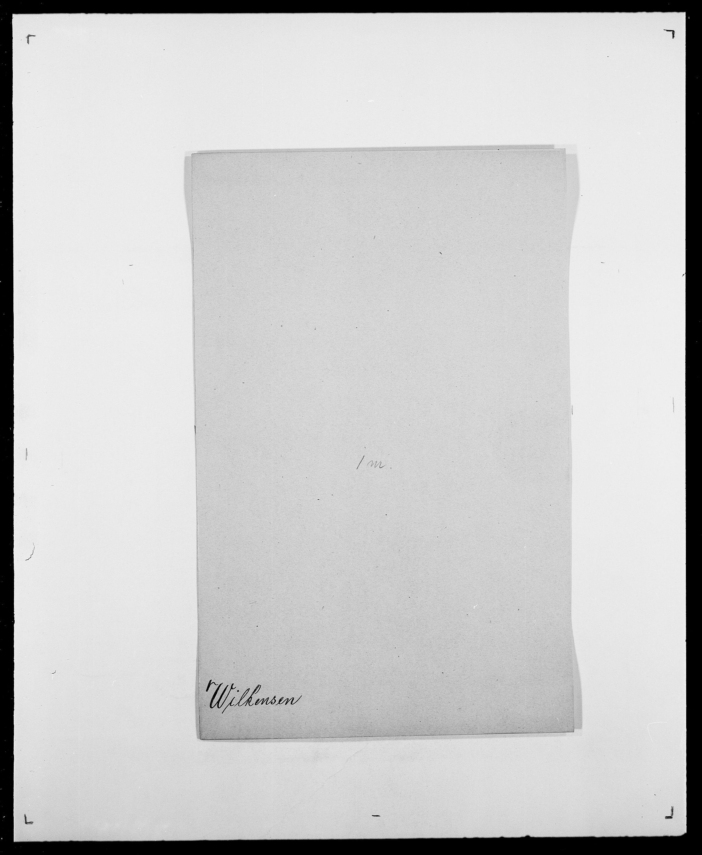 SAO, Delgobe, Charles Antoine - samling, D/Da/L0042: Vilain - Wulf, Wulff, se også Wolf, s. 58