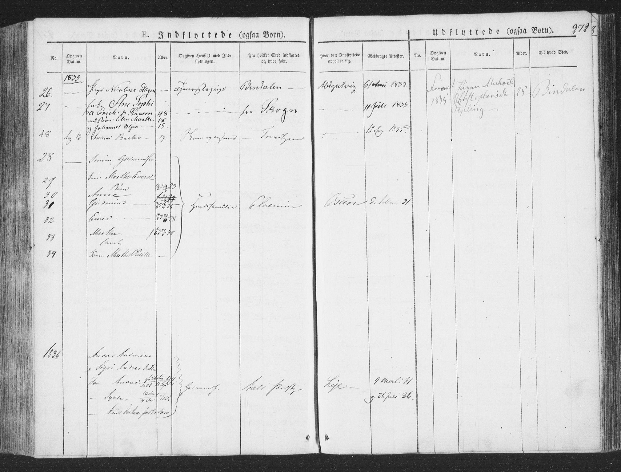 SAT, Ministerialprotokoller, klokkerbøker og fødselsregistre - Nord-Trøndelag, 780/L0639: Ministerialbok nr. 780A04, 1830-1844, s. 272