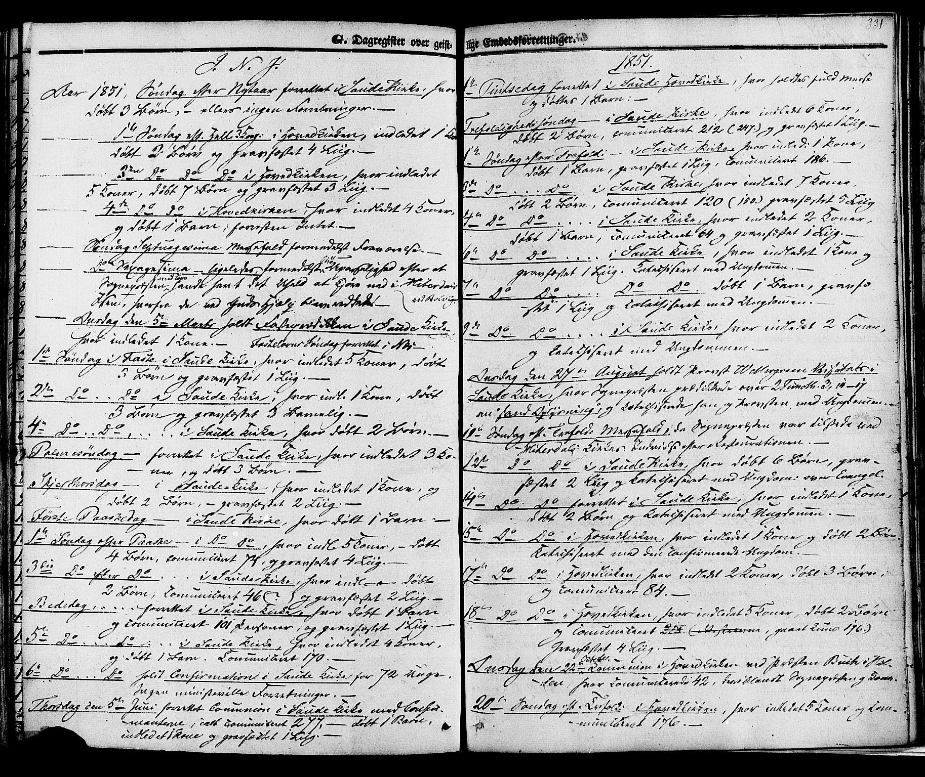 SAKO, Sauherad kirkebøker, F/Fa/L0007: Ministerialbok nr. I 7, 1851-1873, s. 331