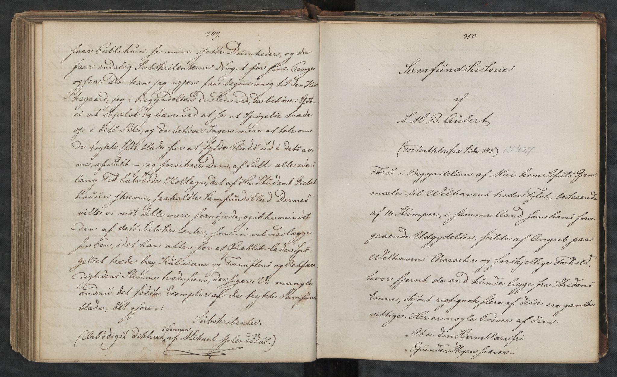 RA, Det Norske Studentersamfund, X/Xa/L0006, 1856-1857, s. 179