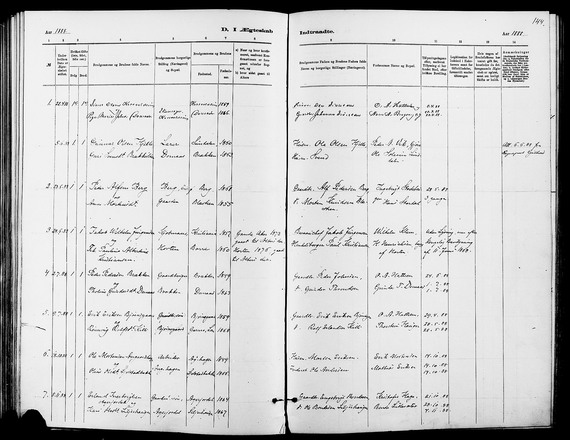 SAH, Dovre prestekontor, Ministerialbok nr. 2, 1879-1890, s. 144