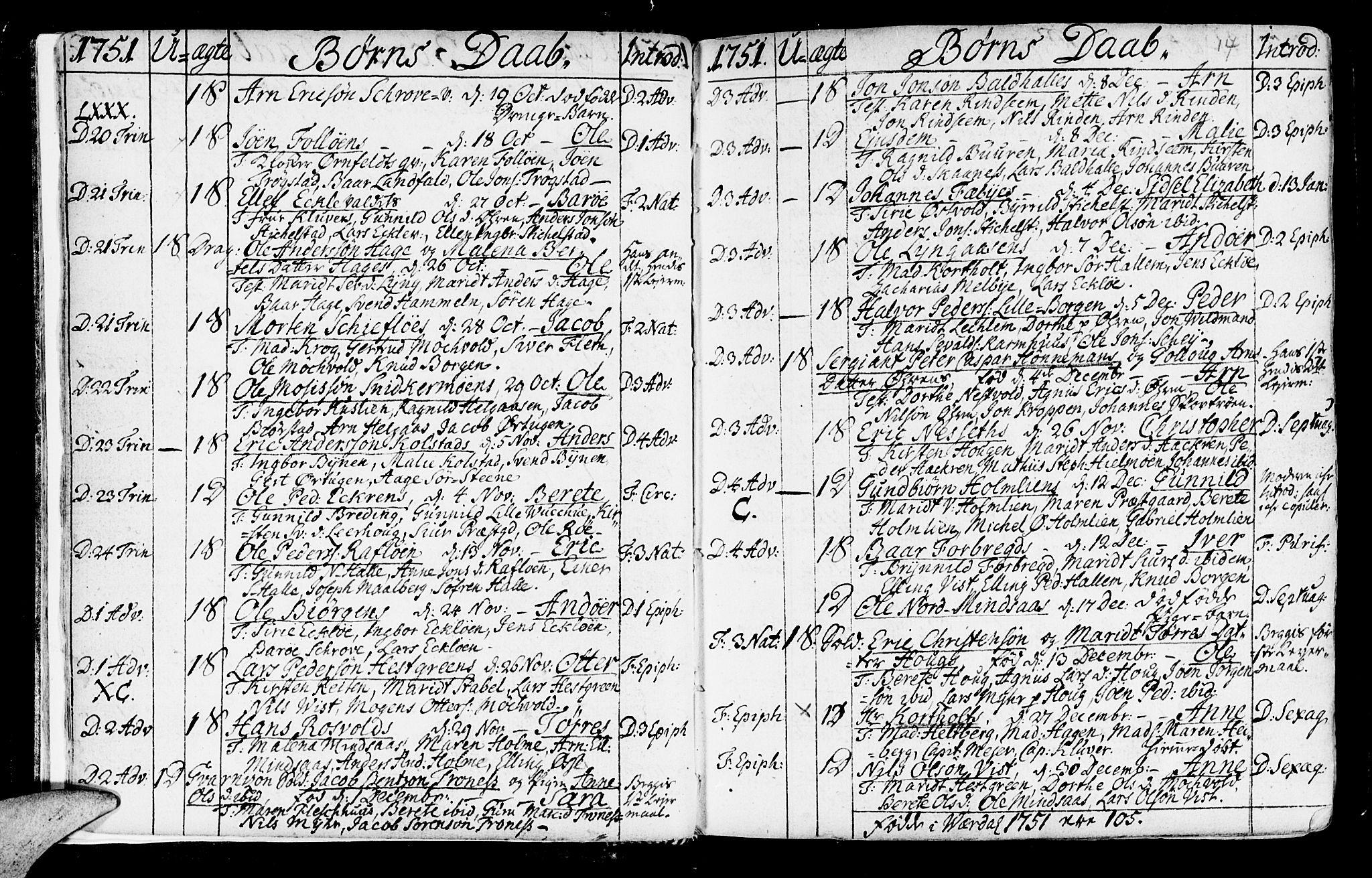 SAT, Ministerialprotokoller, klokkerbøker og fødselsregistre - Nord-Trøndelag, 723/L0231: Ministerialbok nr. 723A02, 1748-1780, s. 14
