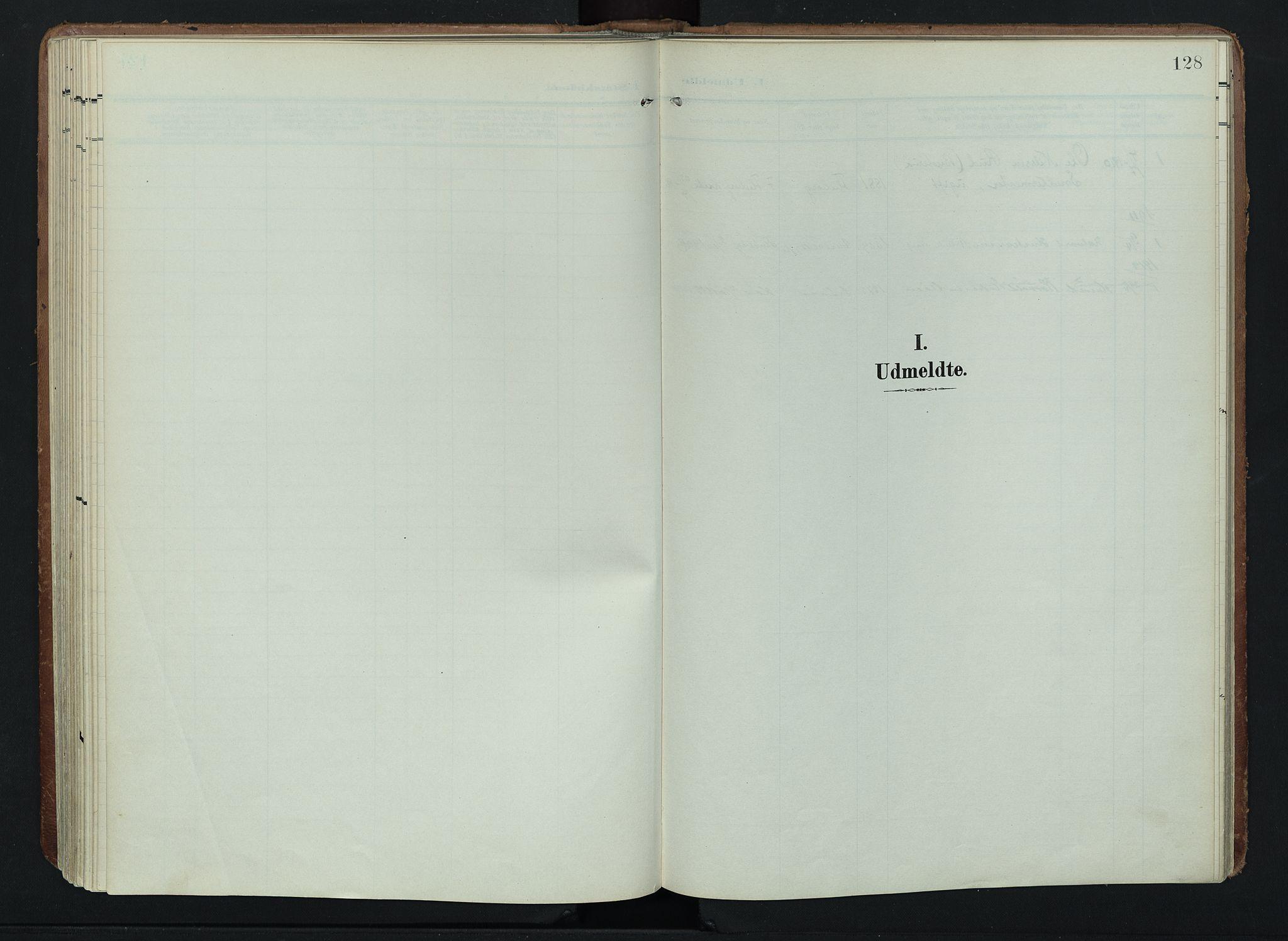 SAH, Søndre Land prestekontor, K/L0005: Ministerialbok nr. 5, 1905-1914, s. 128