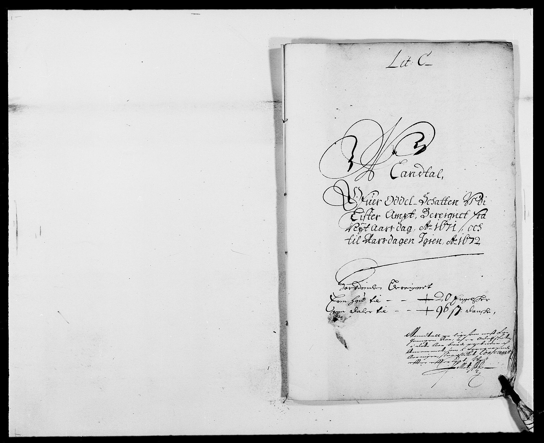 RA, Rentekammeret inntil 1814, Reviderte regnskaper, Fogderegnskap, R41/L2525: Fogderegnskap Lista, 1669-1671, s. 280