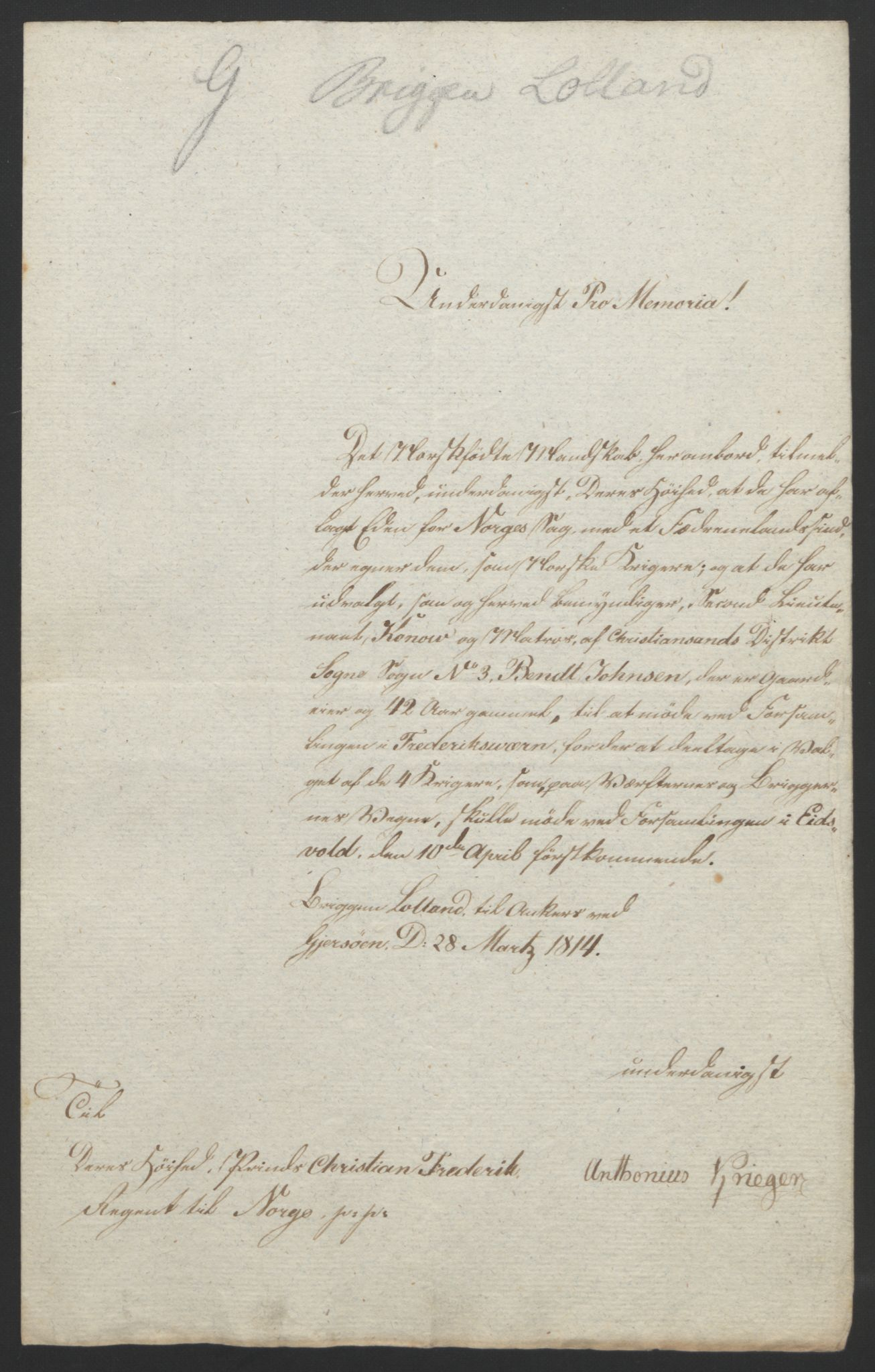RA, Statsrådssekretariatet, D/Db/L0007: Fullmakter for Eidsvollsrepresentantene i 1814. , 1814, s. 135