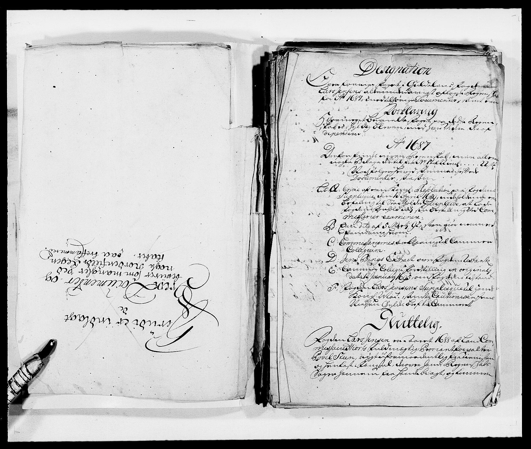 RA, Rentekammeret inntil 1814, Reviderte regnskaper, Fogderegnskap, R59/L3939: Fogderegnskap Gauldal, 1687-1688, s. 3