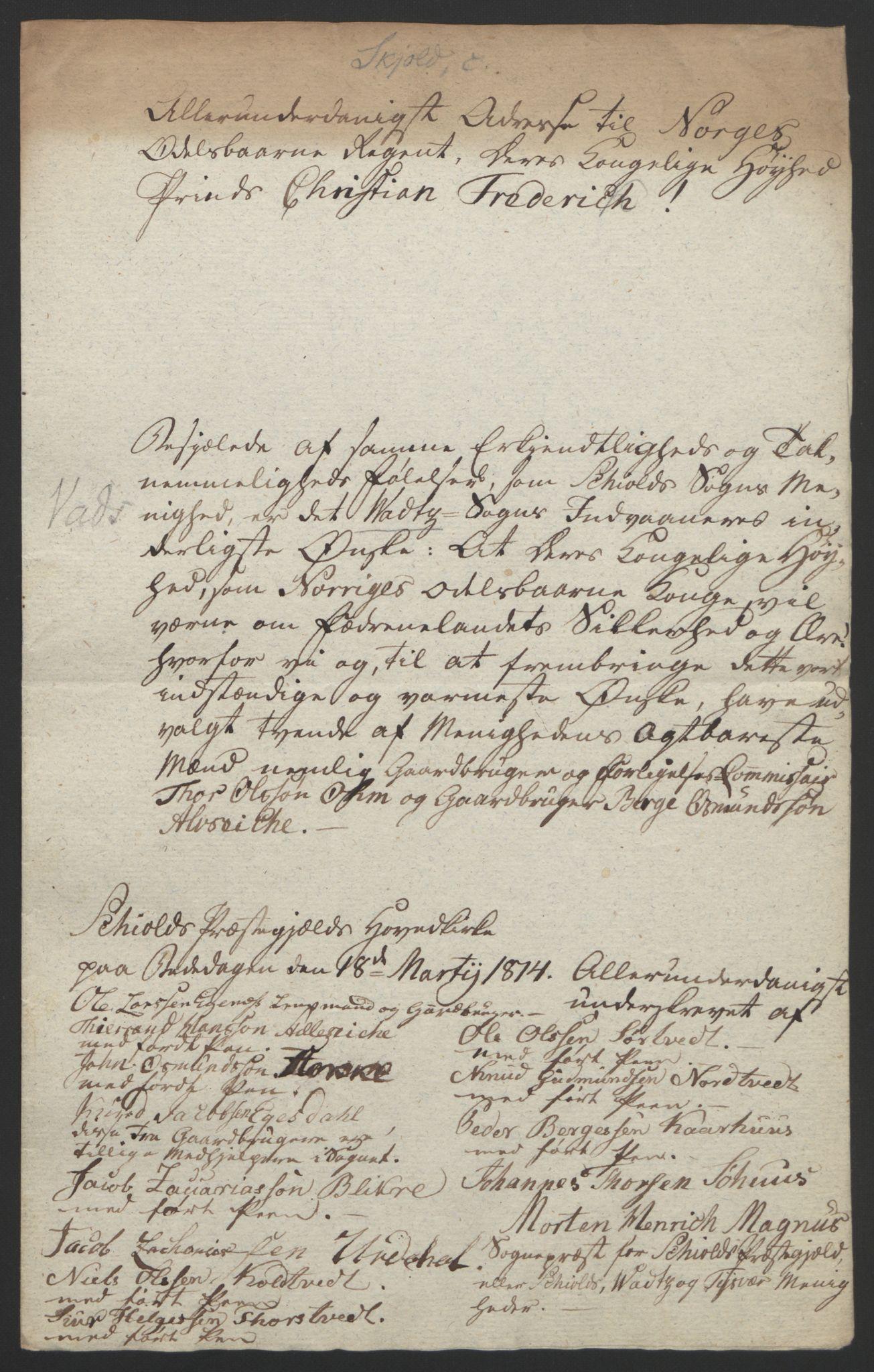 RA, Statsrådssekretariatet, D/Db/L0008: Fullmakter for Eidsvollsrepresentantene i 1814. , 1814, s. 242