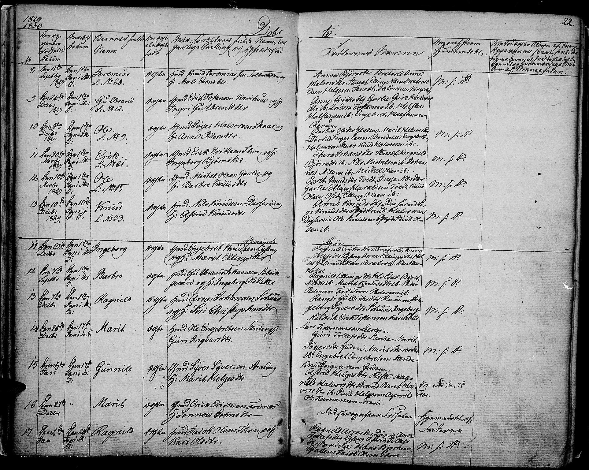 SAH, Nord-Aurdal prestekontor, Ministerialbok nr. 3, 1828-1841, s. 22