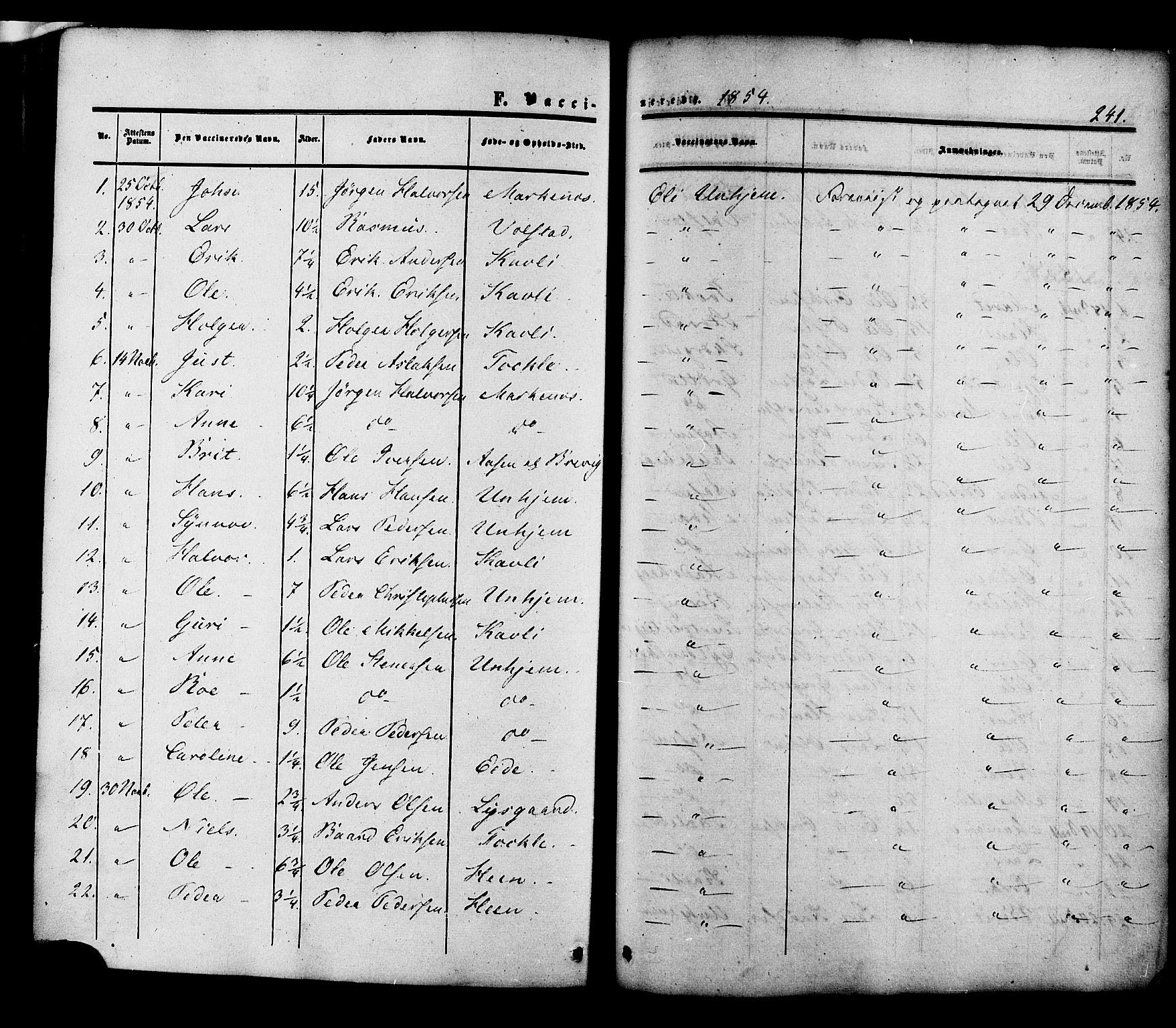 SAT, Ministerialprotokoller, klokkerbøker og fødselsregistre - Møre og Romsdal, 545/L0586: Ministerialbok nr. 545A02, 1854-1877, s. 241