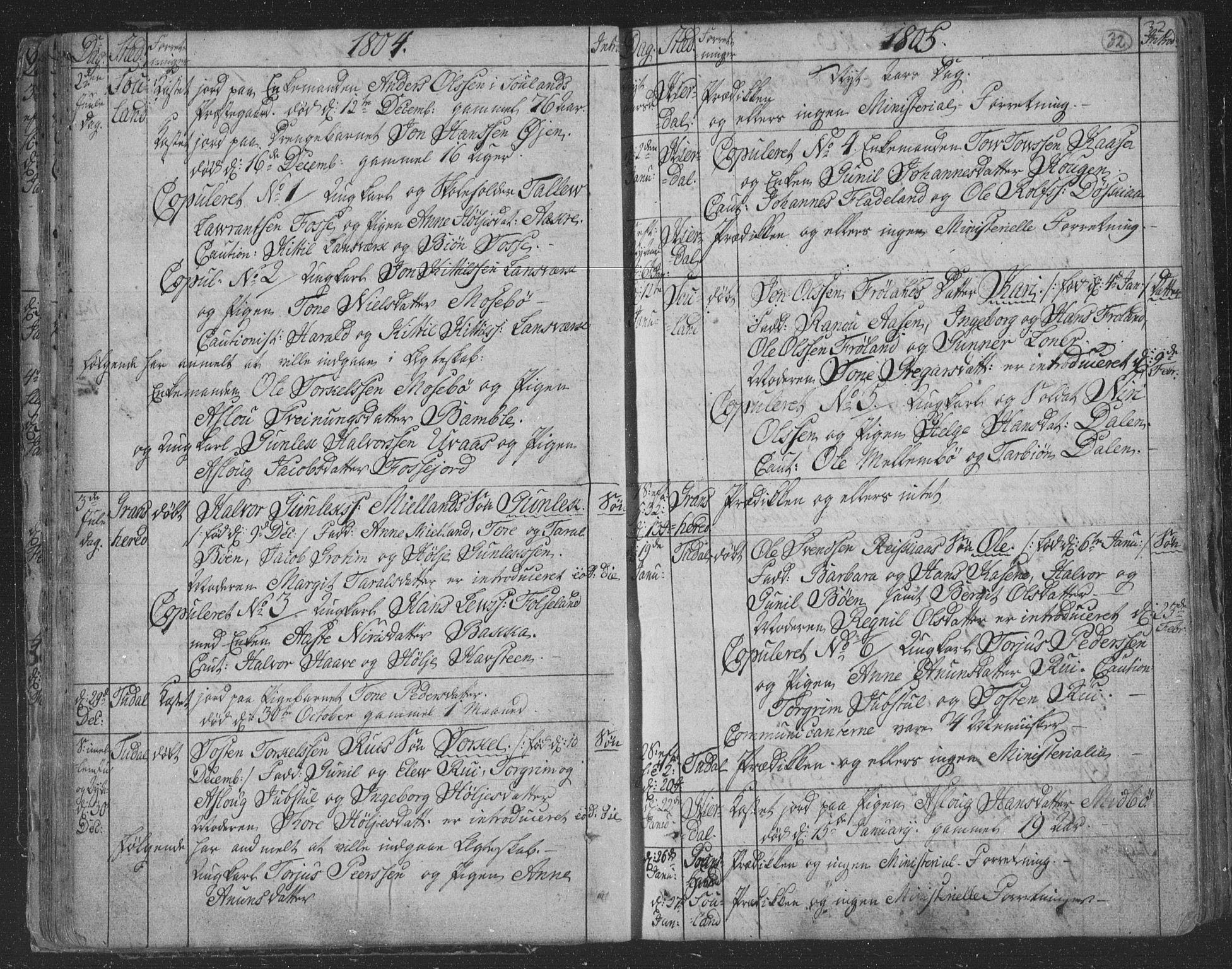 SAKO, Hjartdal kirkebøker, F/Fa/L0006: Ministerialbok nr. I 6, 1801-1814, s. 32