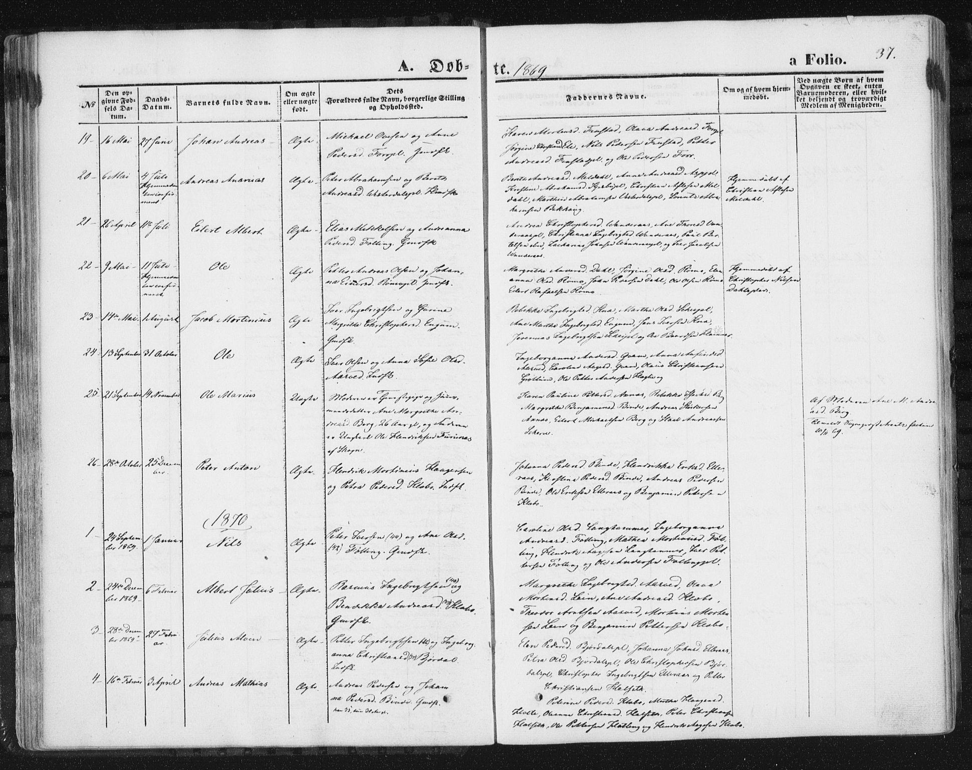 SAT, Ministerialprotokoller, klokkerbøker og fødselsregistre - Nord-Trøndelag, 746/L0447: Ministerialbok nr. 746A06, 1860-1877, s. 37