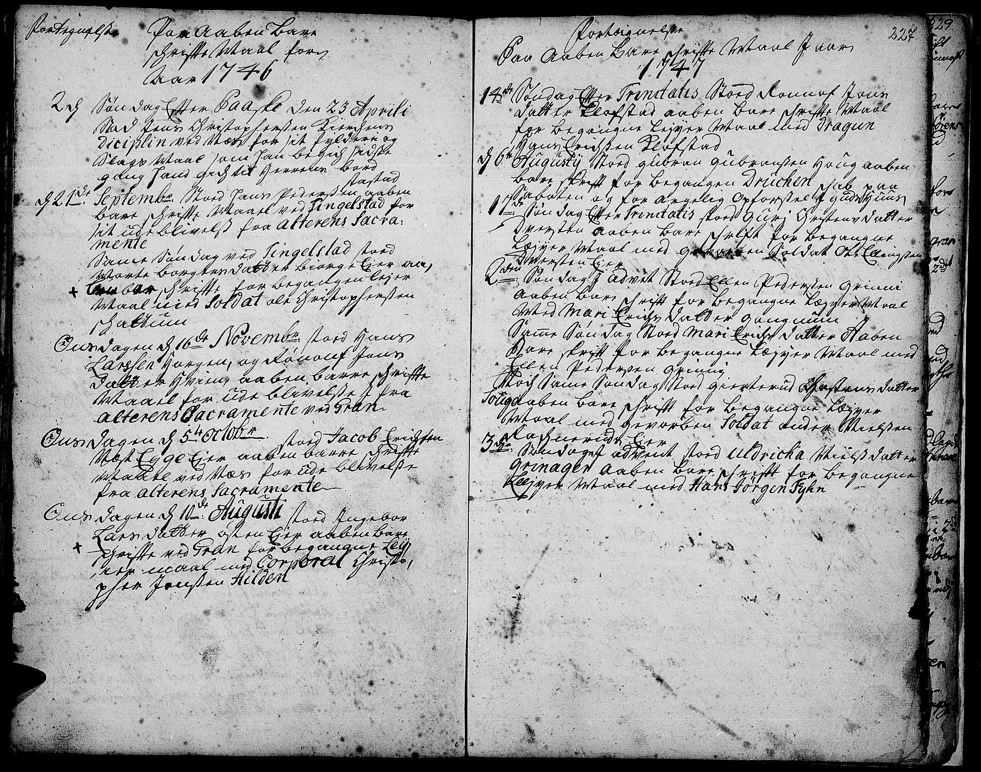 SAH, Gran prestekontor, Ministerialbok nr. 3, 1745-1758, s. 227