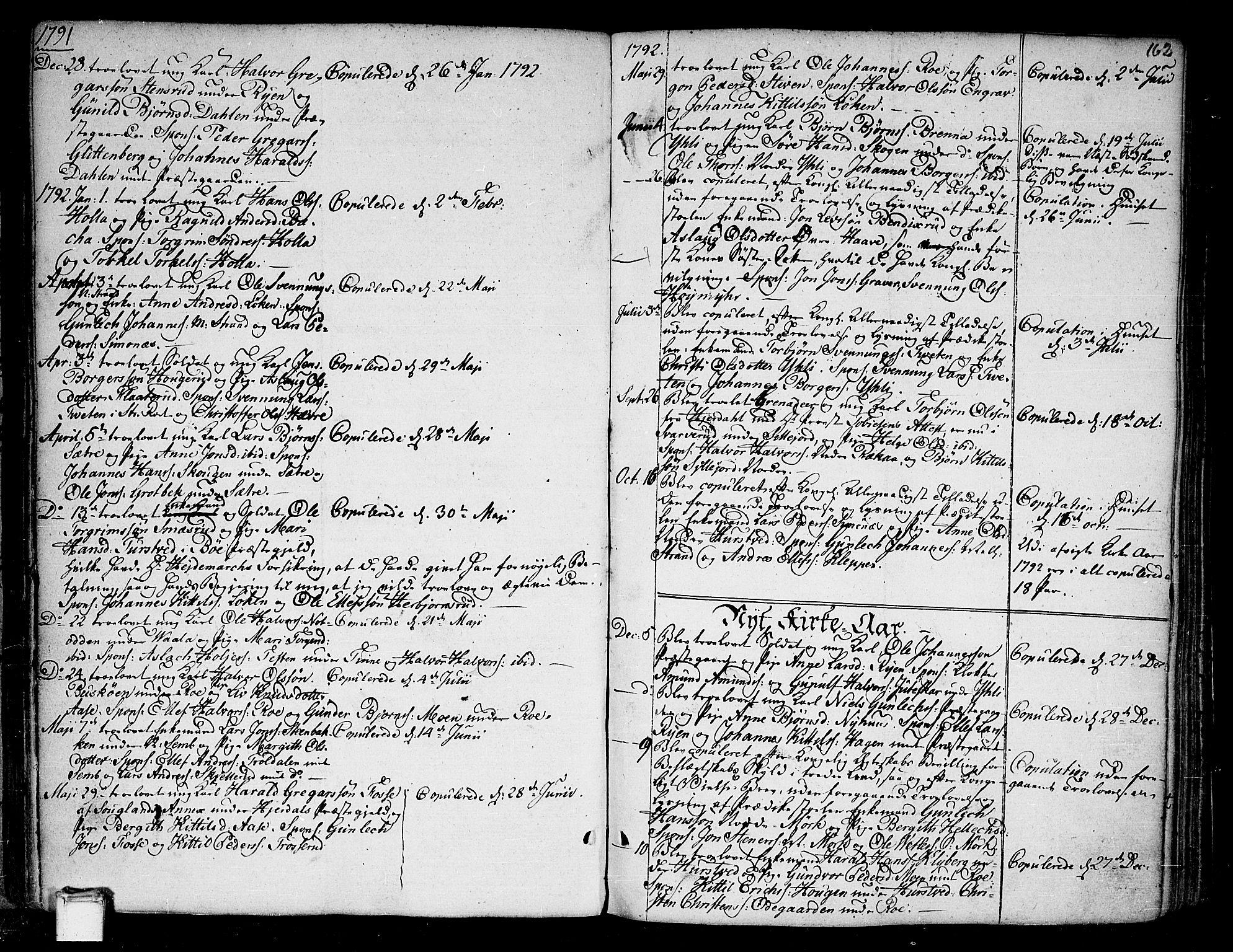 SAKO, Heddal kirkebøker, F/Fa/L0004: Ministerialbok nr. I 4, 1784-1814, s. 162