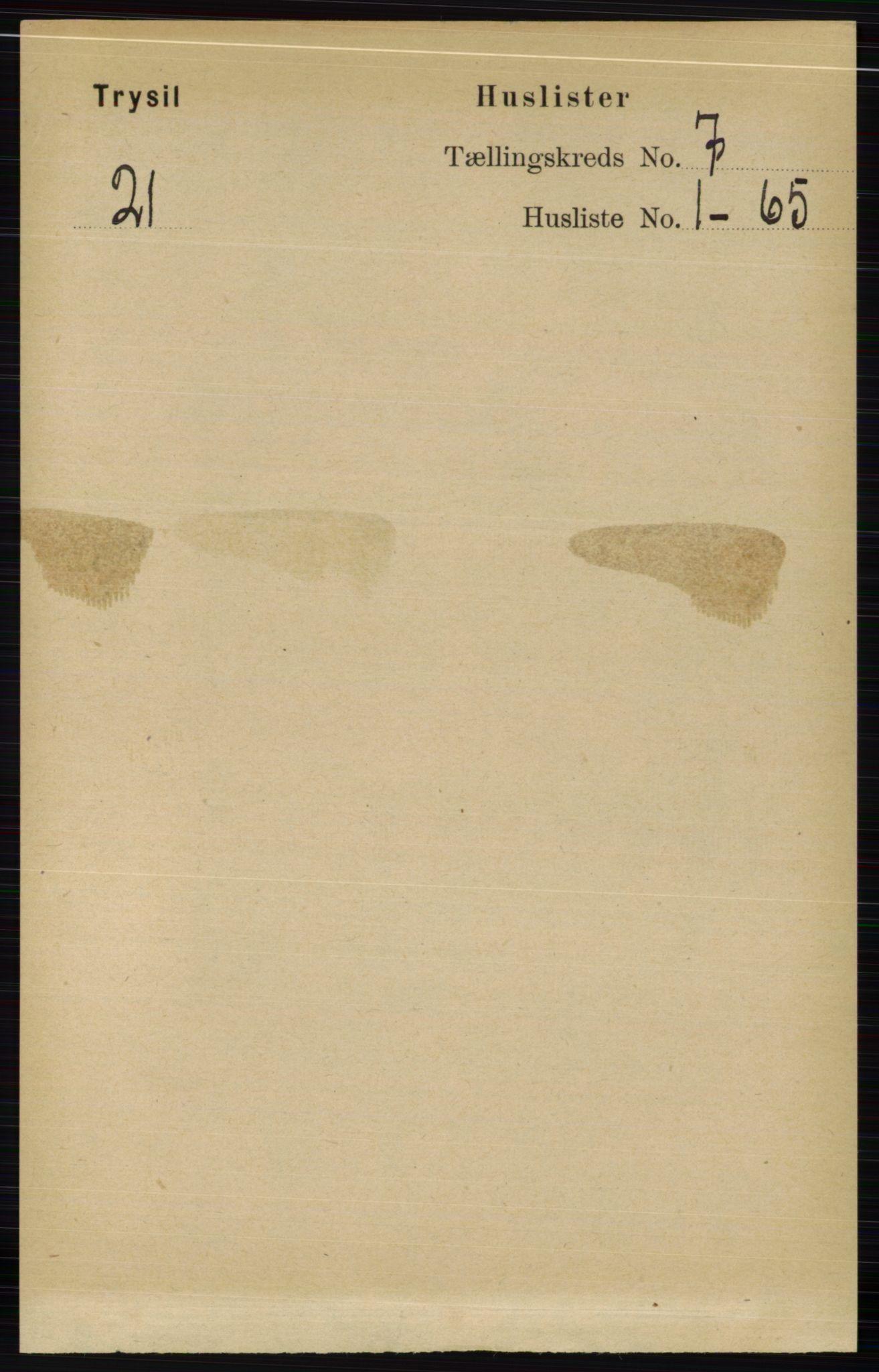 RA, Folketelling 1891 for 0428 Trysil herred, 1891, s. 3071
