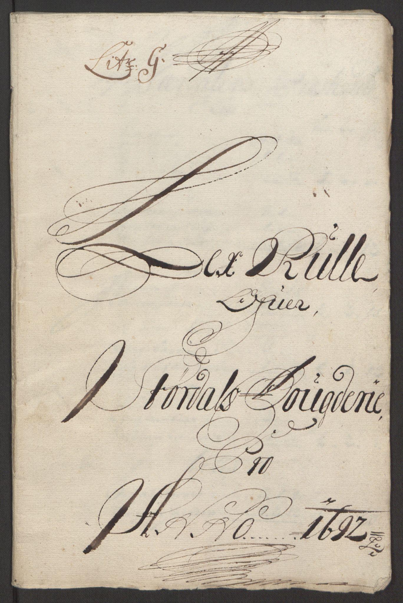 RA, Rentekammeret inntil 1814, Reviderte regnskaper, Fogderegnskap, R62/L4185: Fogderegnskap Stjørdal og Verdal, 1692, s. 113