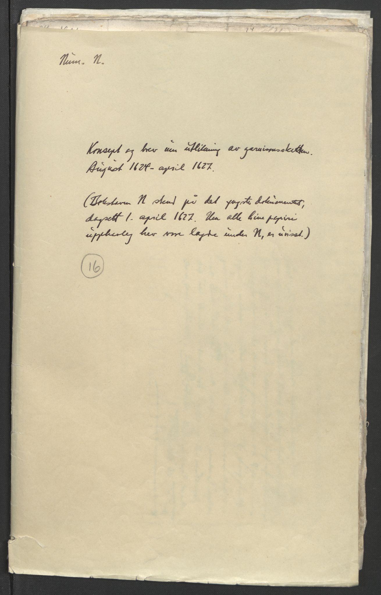 RA, Stattholderembetet 1572-1771, Ek/L0006: Jordebøker til utlikning av garnisonsskatt 1624-1626:, 1624-1627, s. 2