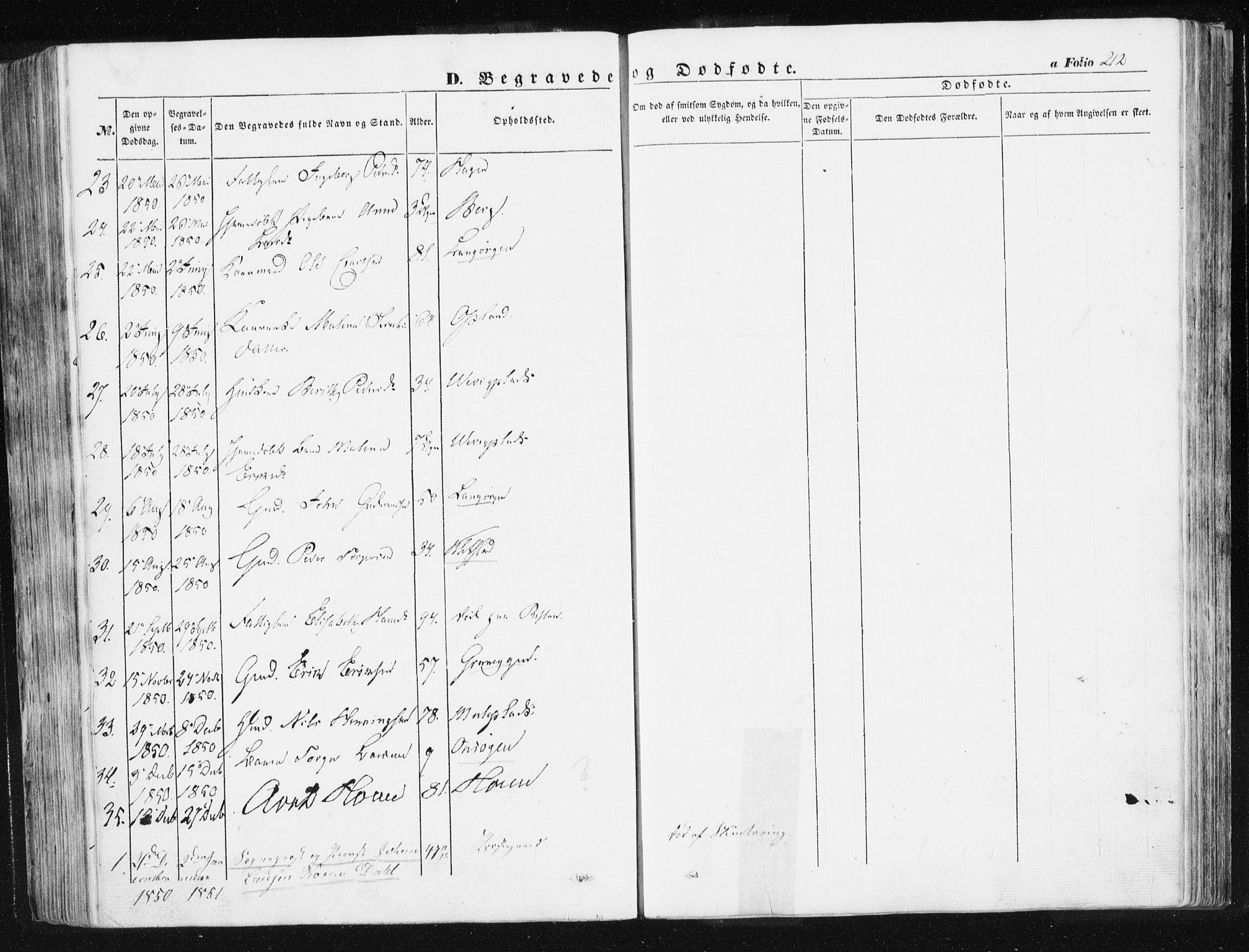SAT, Ministerialprotokoller, klokkerbøker og fødselsregistre - Sør-Trøndelag, 612/L0376: Ministerialbok nr. 612A08, 1846-1859, s. 212