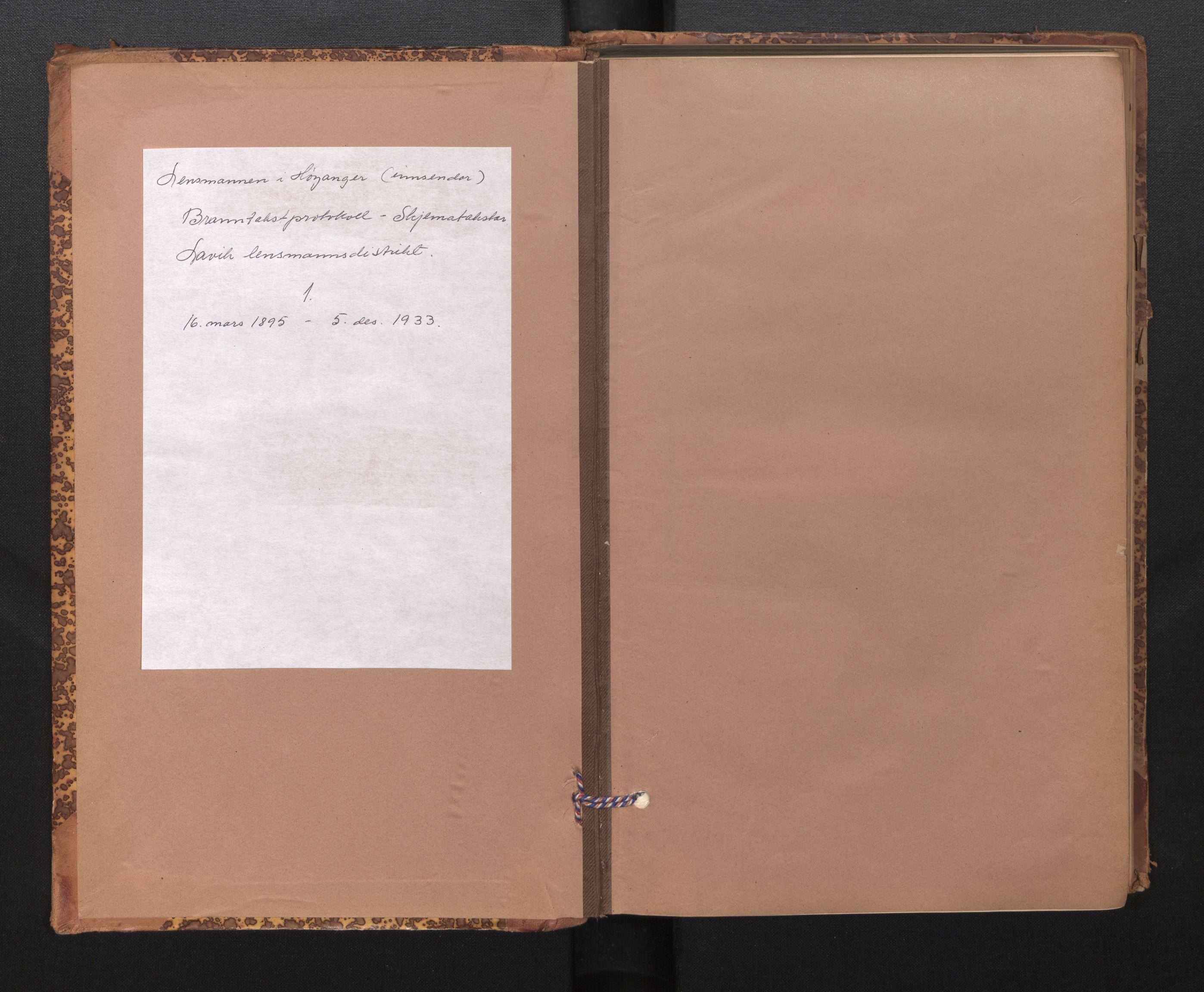 SAB, Lensmannen i Lavik, 0012/L0002: Branntakstprotokoll, skjematakst, 1895-1933