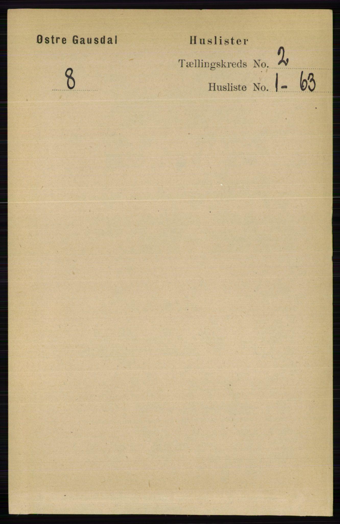 RA, Folketelling 1891 for 0522 Østre Gausdal herred, 1891, s. 1087