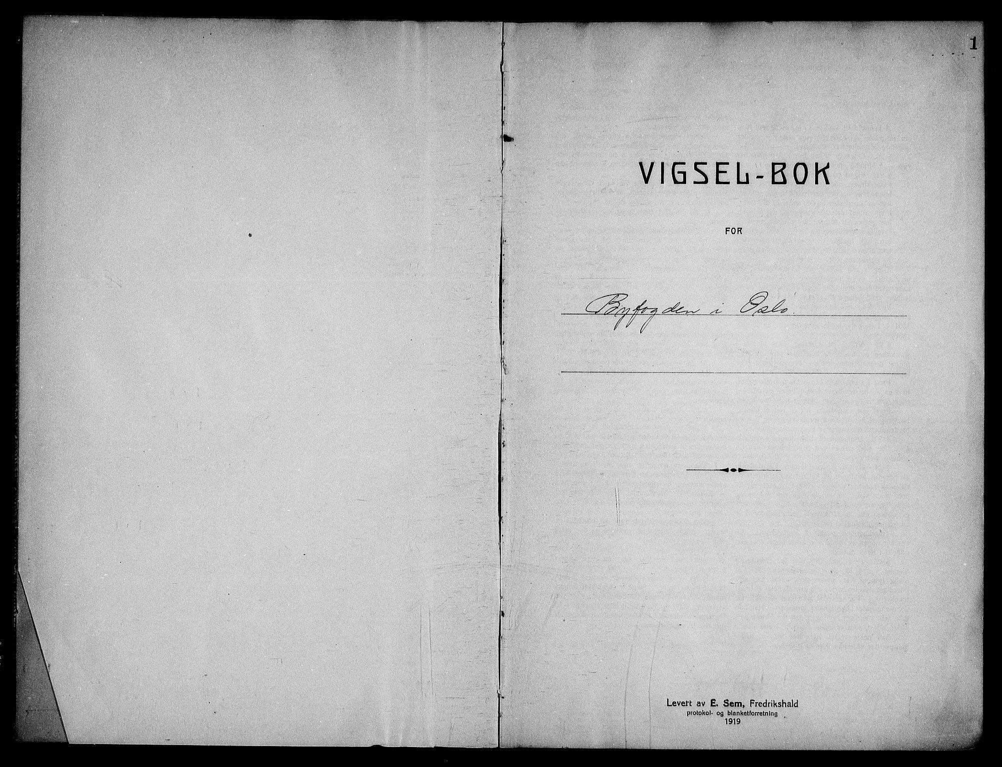 SAO, Oslo byfogd avd. I, L/Lb/Lbb/L0021: Notarialprotokoll, rekke II: Vigsler, 1930-1932, s. 1a