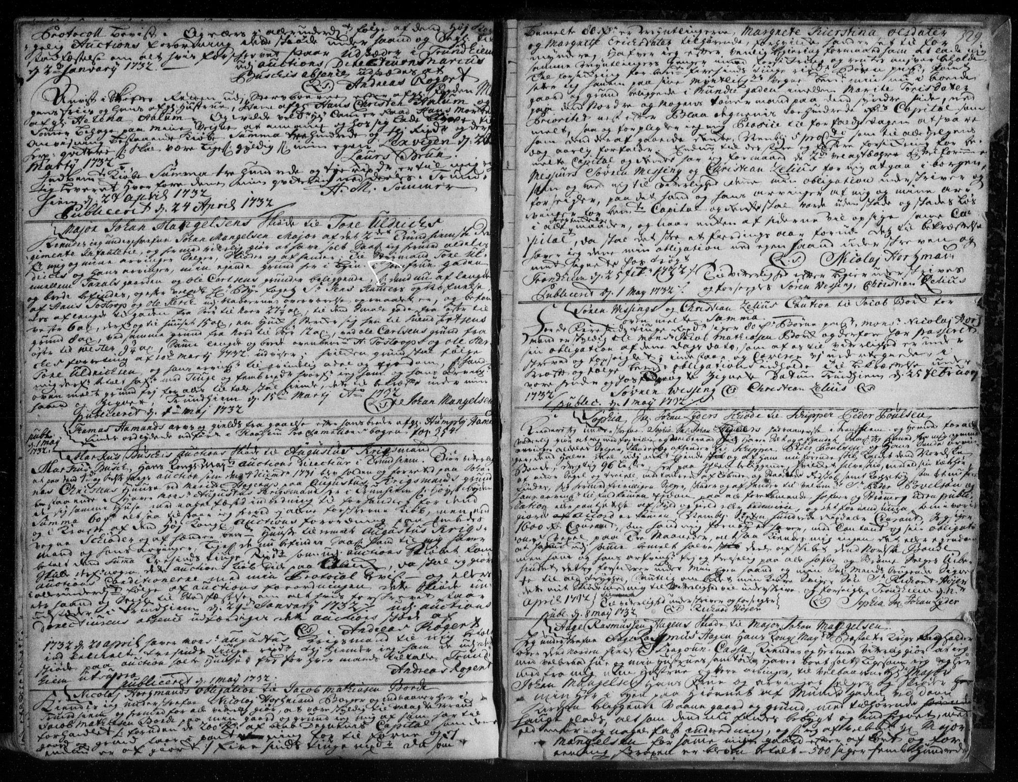 SAT, Trondheim byfogd, 2/2C/L0006: Pantebok nr. 4, 1720-1733, s. 329