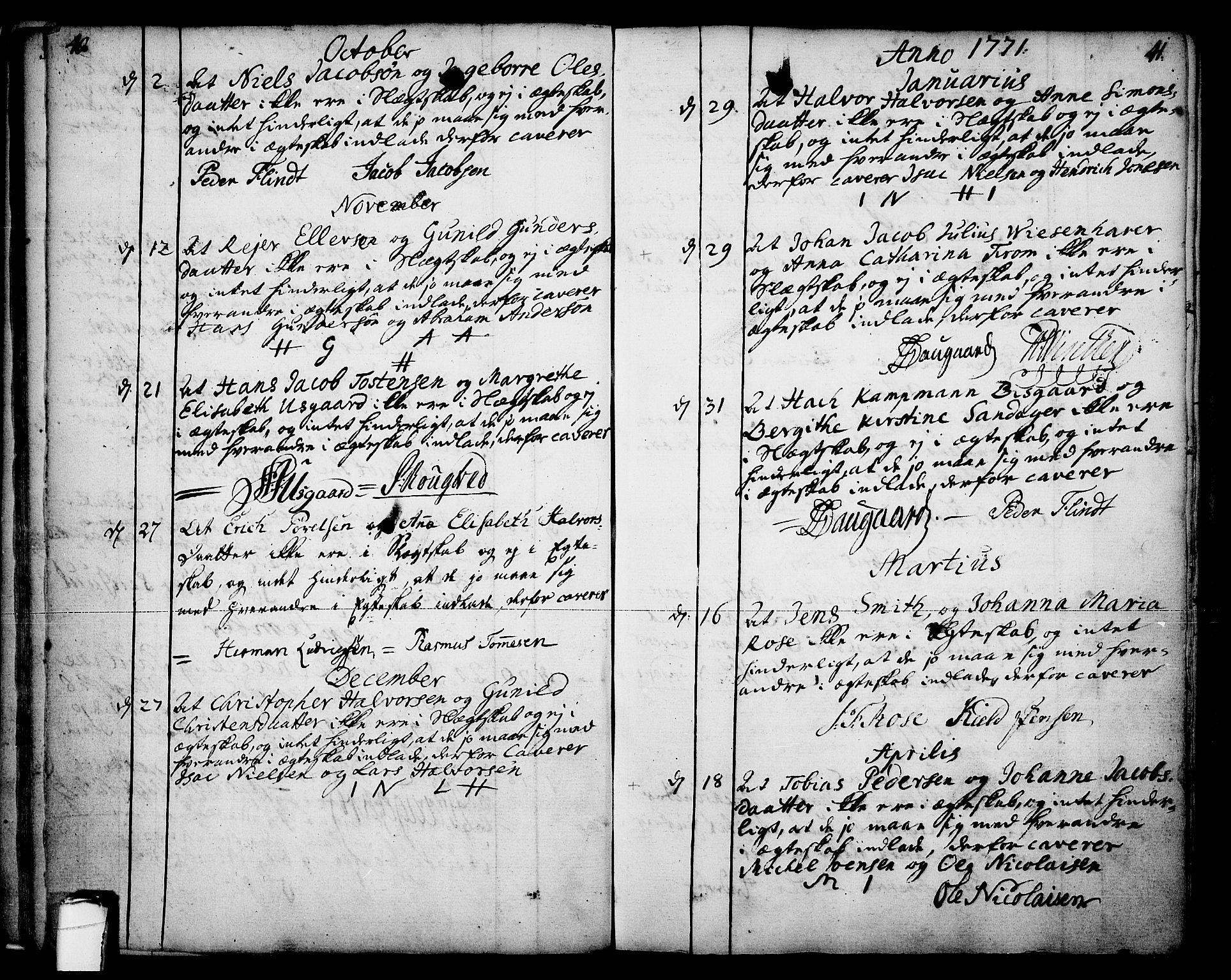 SAKO, Skien kirkebøker, F/Fa/L0003: Ministerialbok nr. 3, 1755-1791, s. 40-41