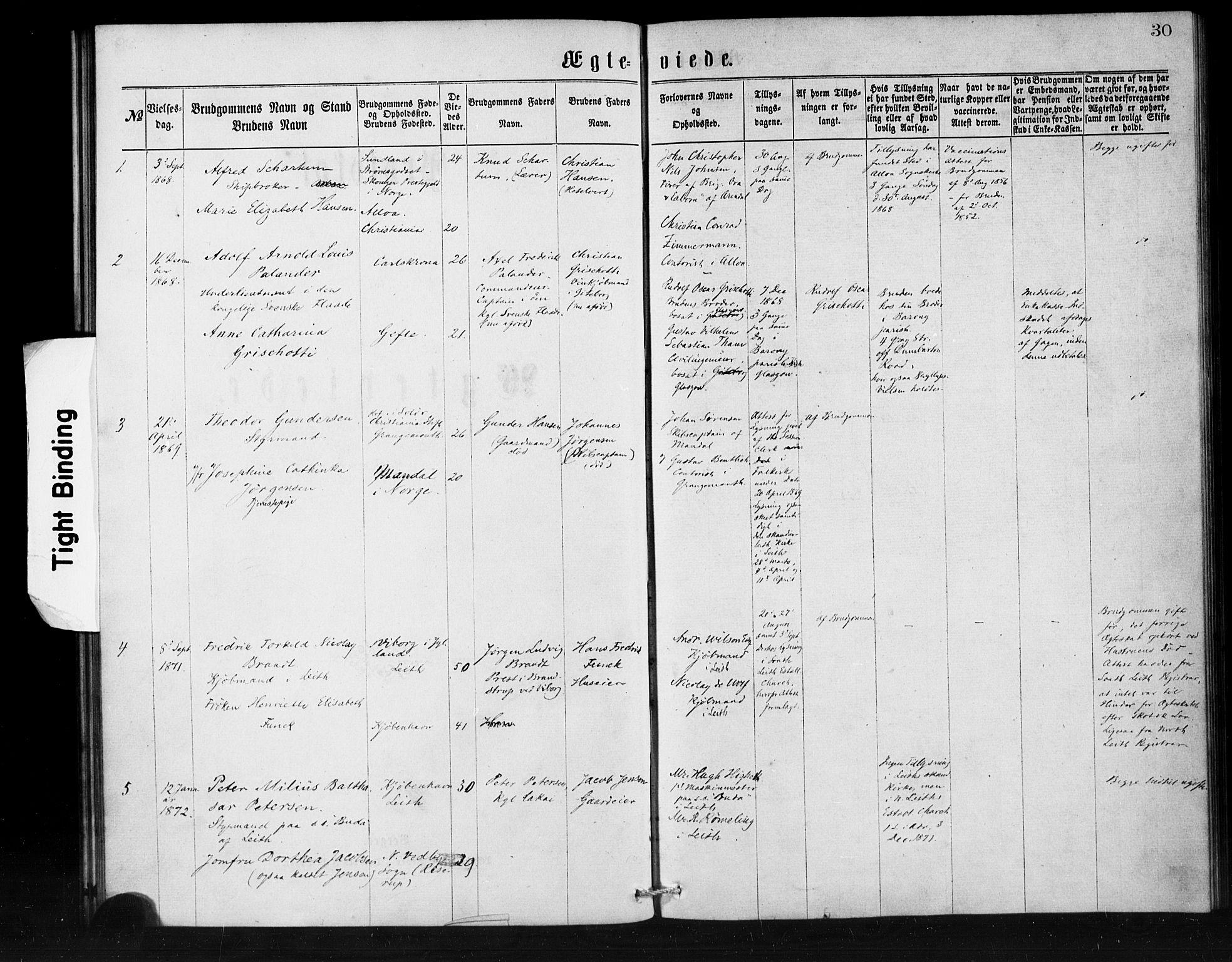 SAB, Den Norske Sjømannsmisjon i utlandet*, Ministerialbok nr. A 1, 1865-1880, s. 30