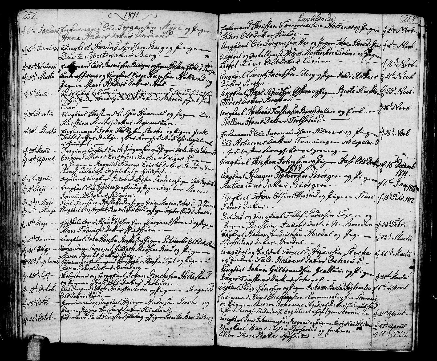 SAKO, Sande Kirkebøker, F/Fa/L0002: Ministerialbok nr. 2, 1804-1814, s. 257-258