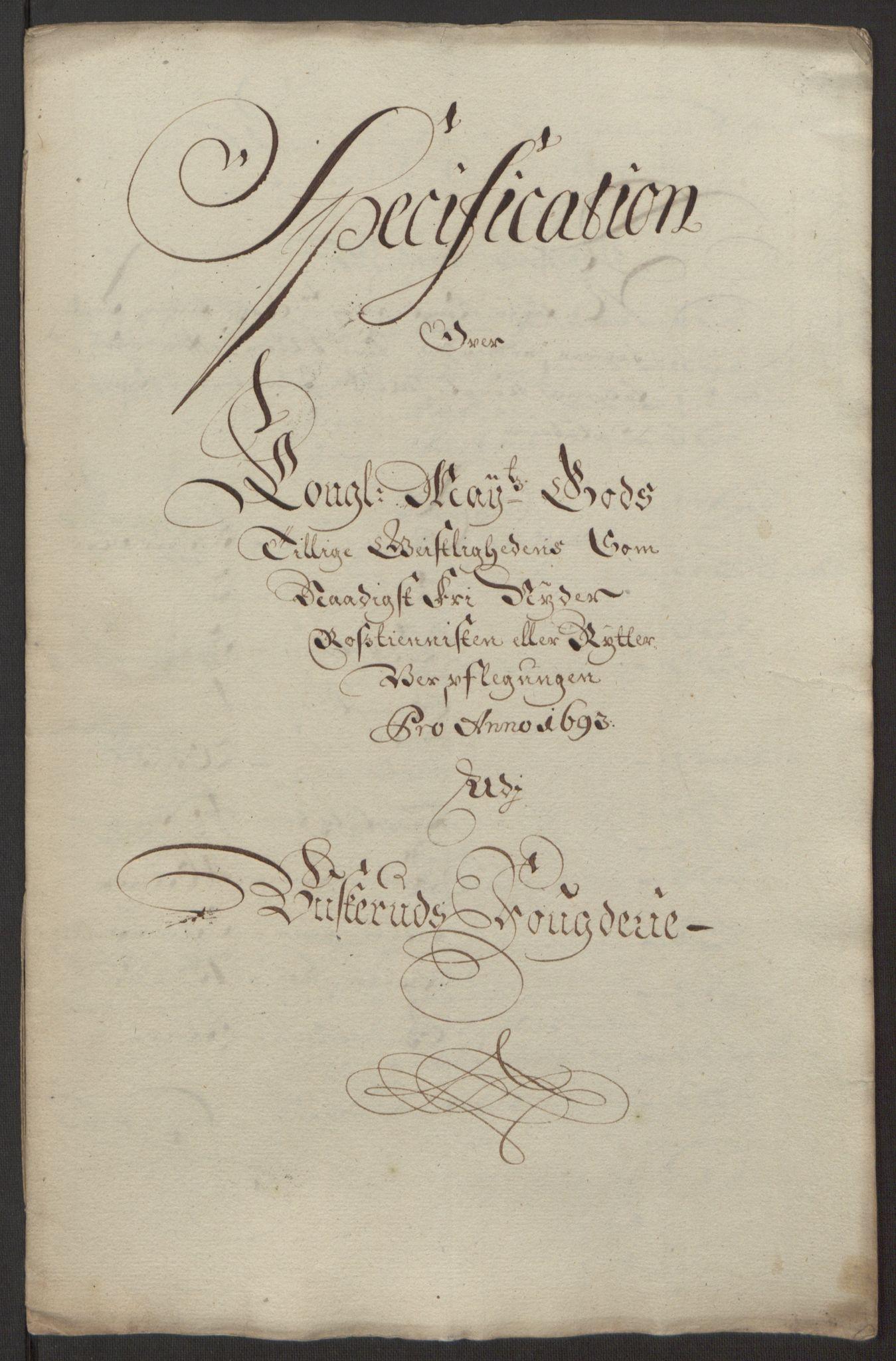 RA, Rentekammeret inntil 1814, Reviderte regnskaper, Fogderegnskap, R25/L1682: Fogderegnskap Buskerud, 1693, s. 232