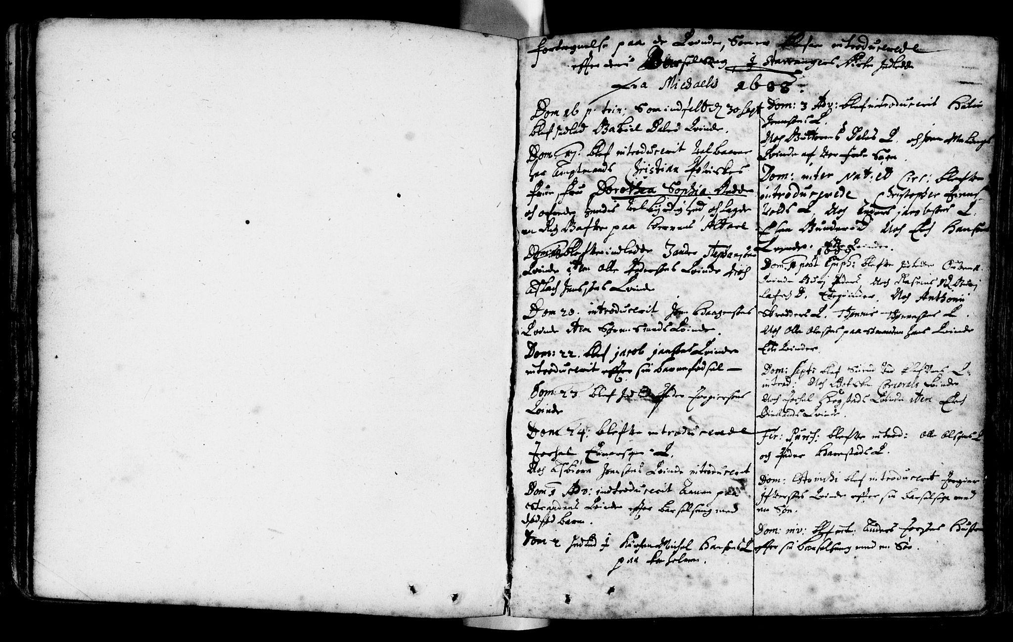 SAST, Domkirken sokneprestkontor, 30/30BA/L0001: Ministerialbok nr. A 1 /1, 1688-1727