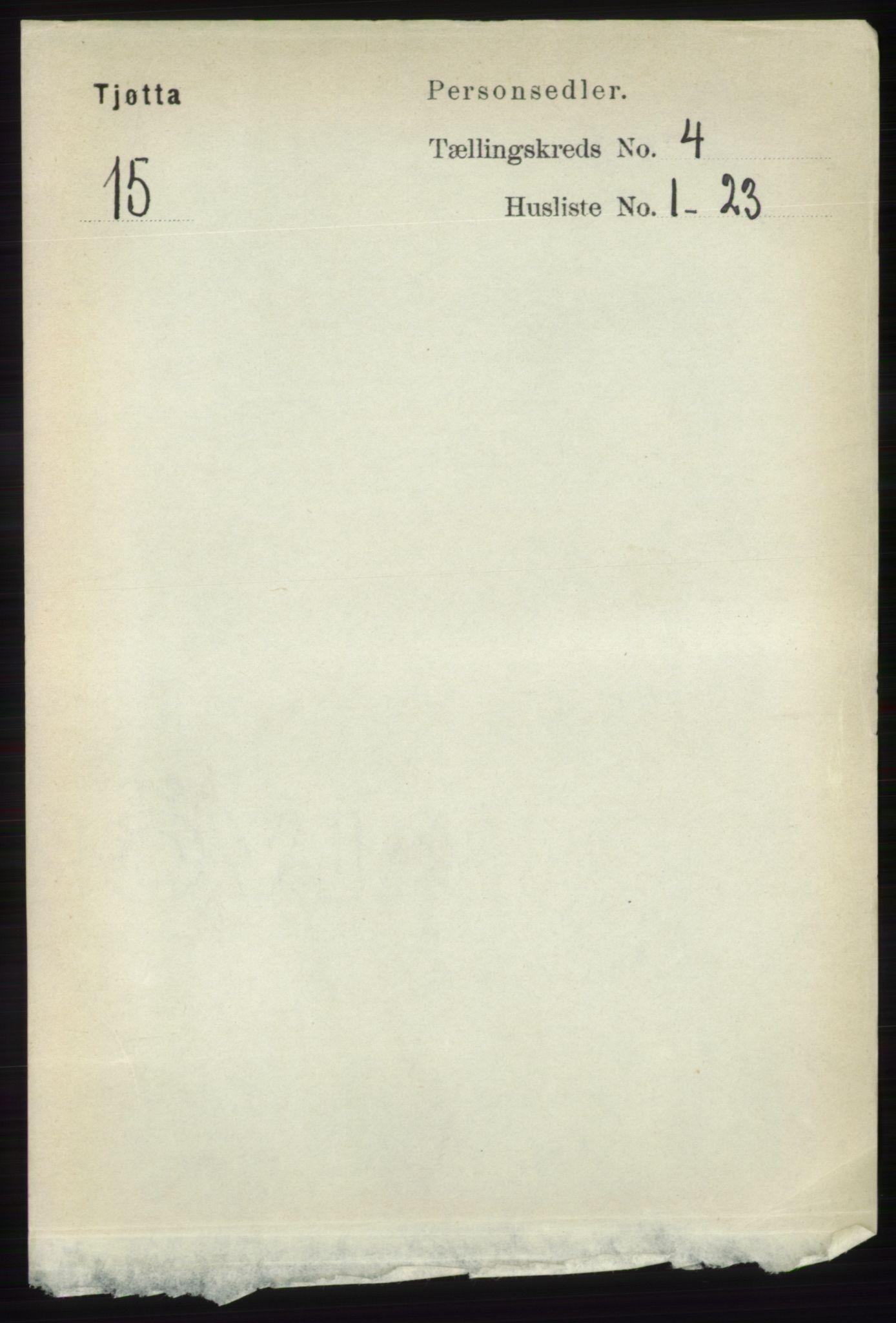 RA, Folketelling 1891 for 1817 Tjøtta herred, 1891, s. 1774