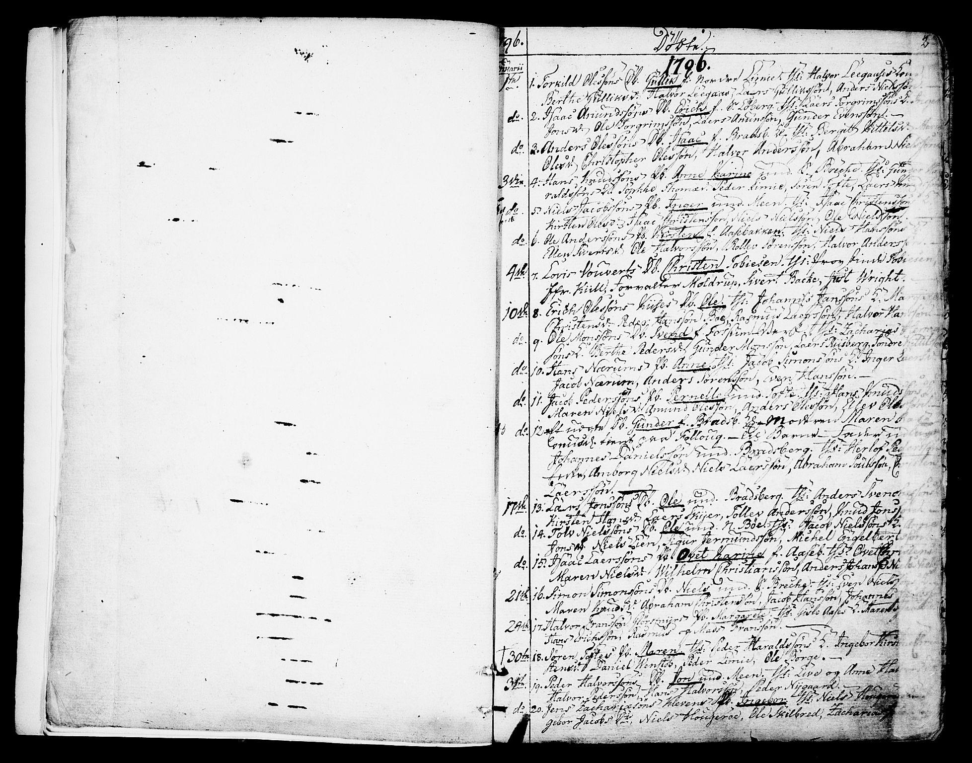 SAKO, Gjerpen kirkebøker, F/Fa/L0003: Ministerialbok nr. 3, 1796-1814, s. 2
