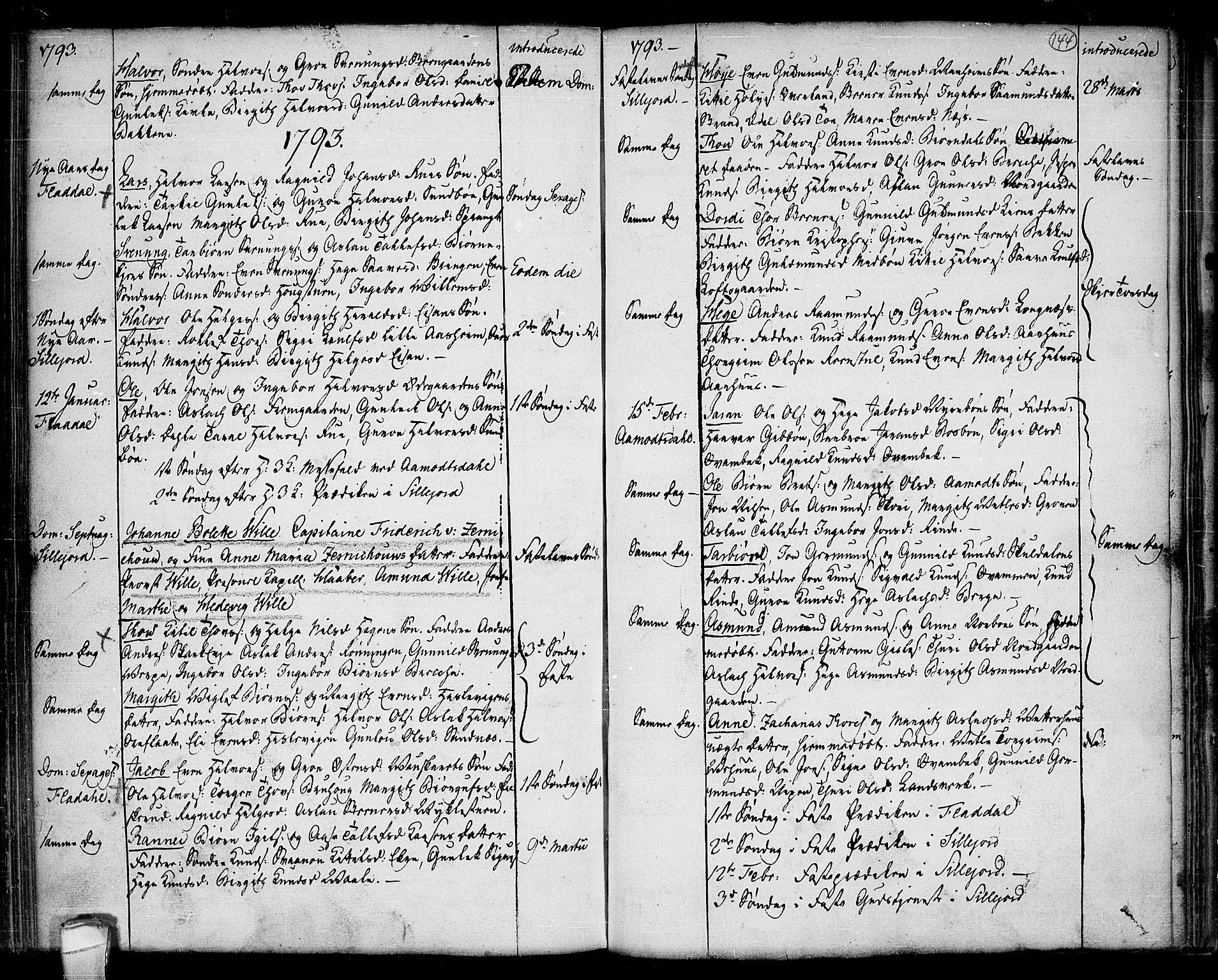 SAKO, Seljord kirkebøker, F/Fa/L0007: Ministerialbok nr. I 7, 1755-1800, s. 144