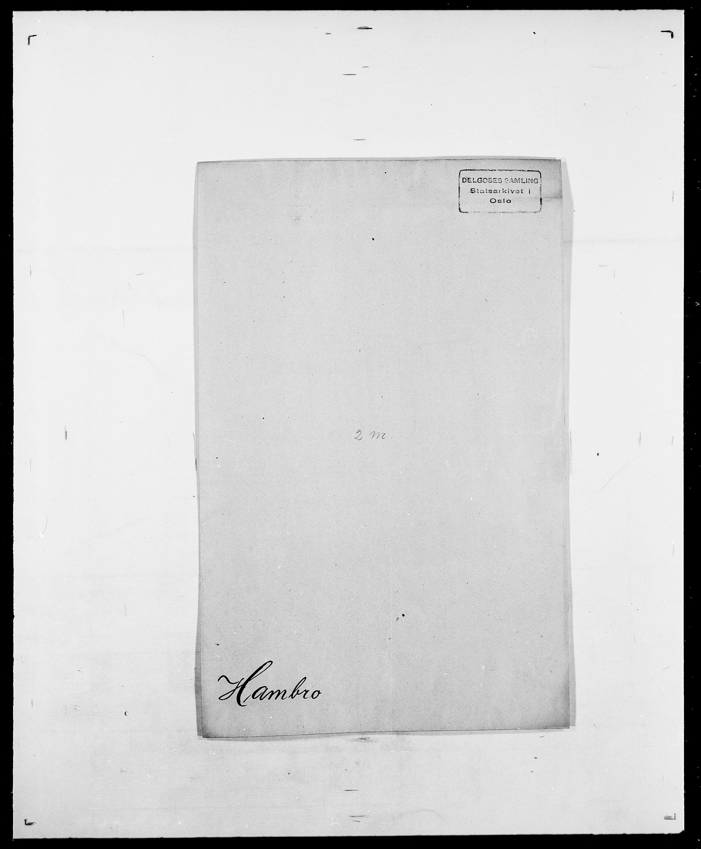 SAO, Delgobe, Charles Antoine - samling, D/Da/L0016: Hamborg - Hektoen, s. 9