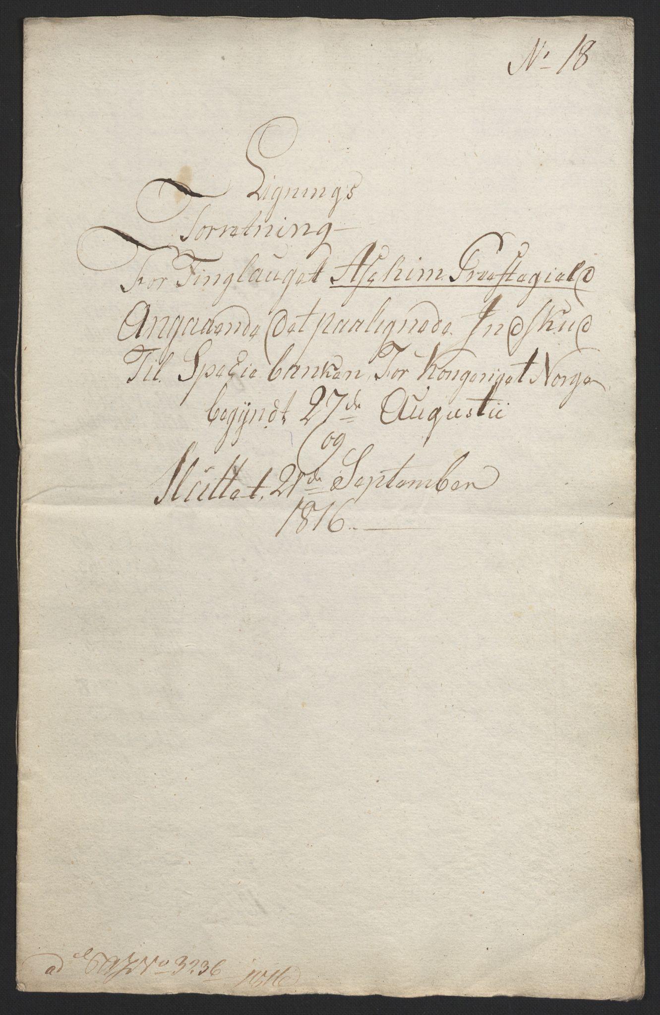 NOBA, Norges Bank/Sølvskatten 1816*, 1816-1817, s. 34