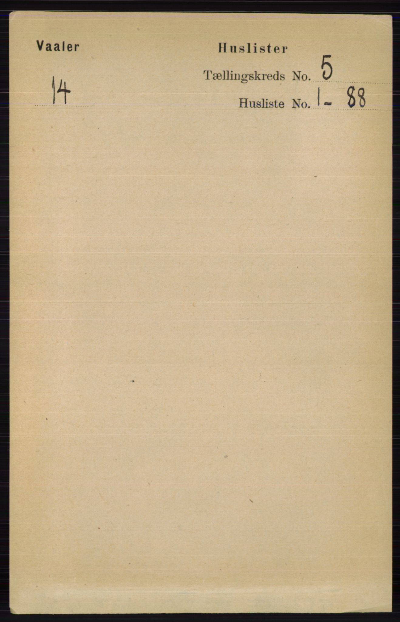 RA, Folketelling 1891 for 0426 Våler herred, 1891, s. 1805