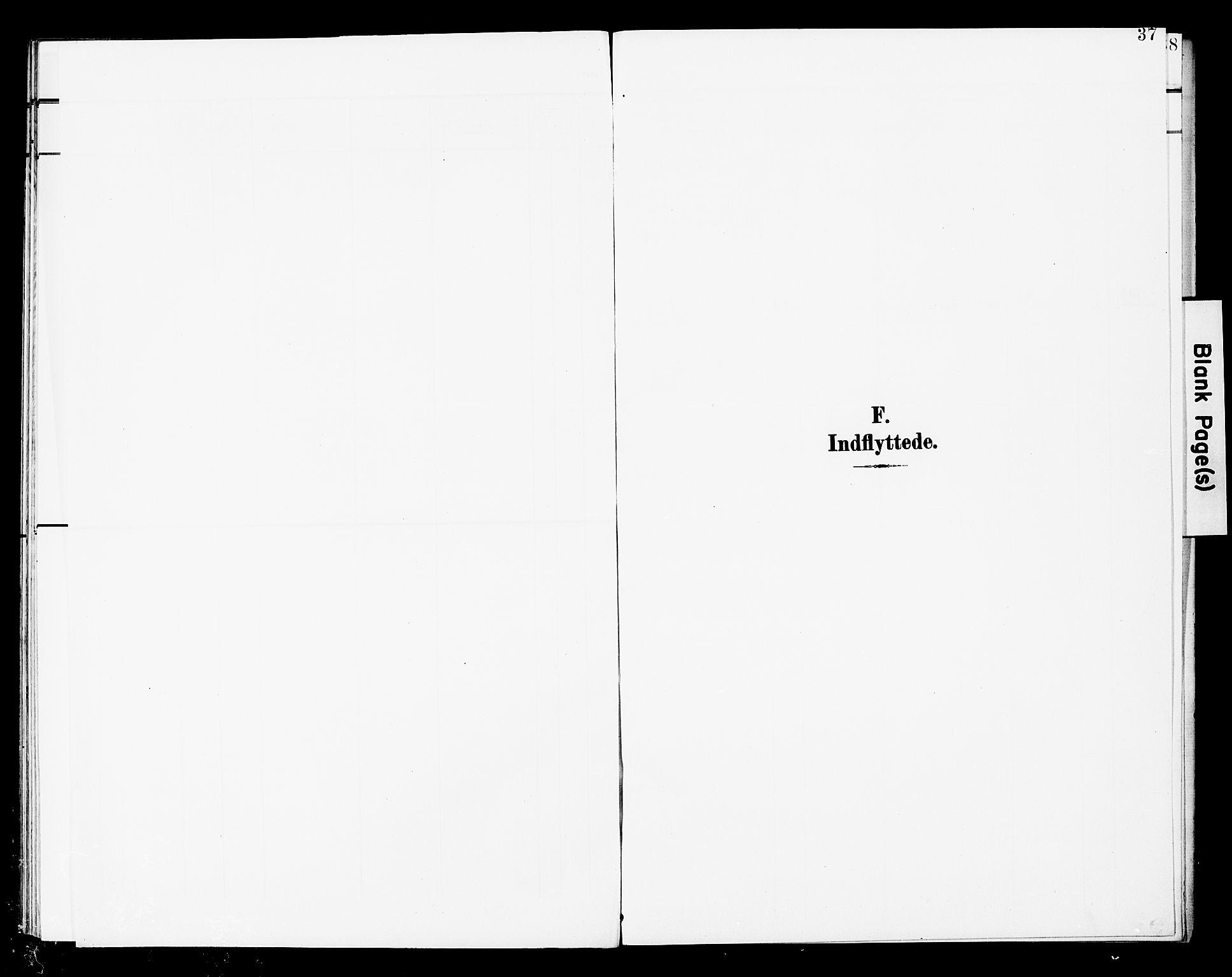 SAT, Ministerialprotokoller, klokkerbøker og fødselsregistre - Nord-Trøndelag, 748/L0464: Ministerialbok nr. 748A01, 1900-1908, s. 37
