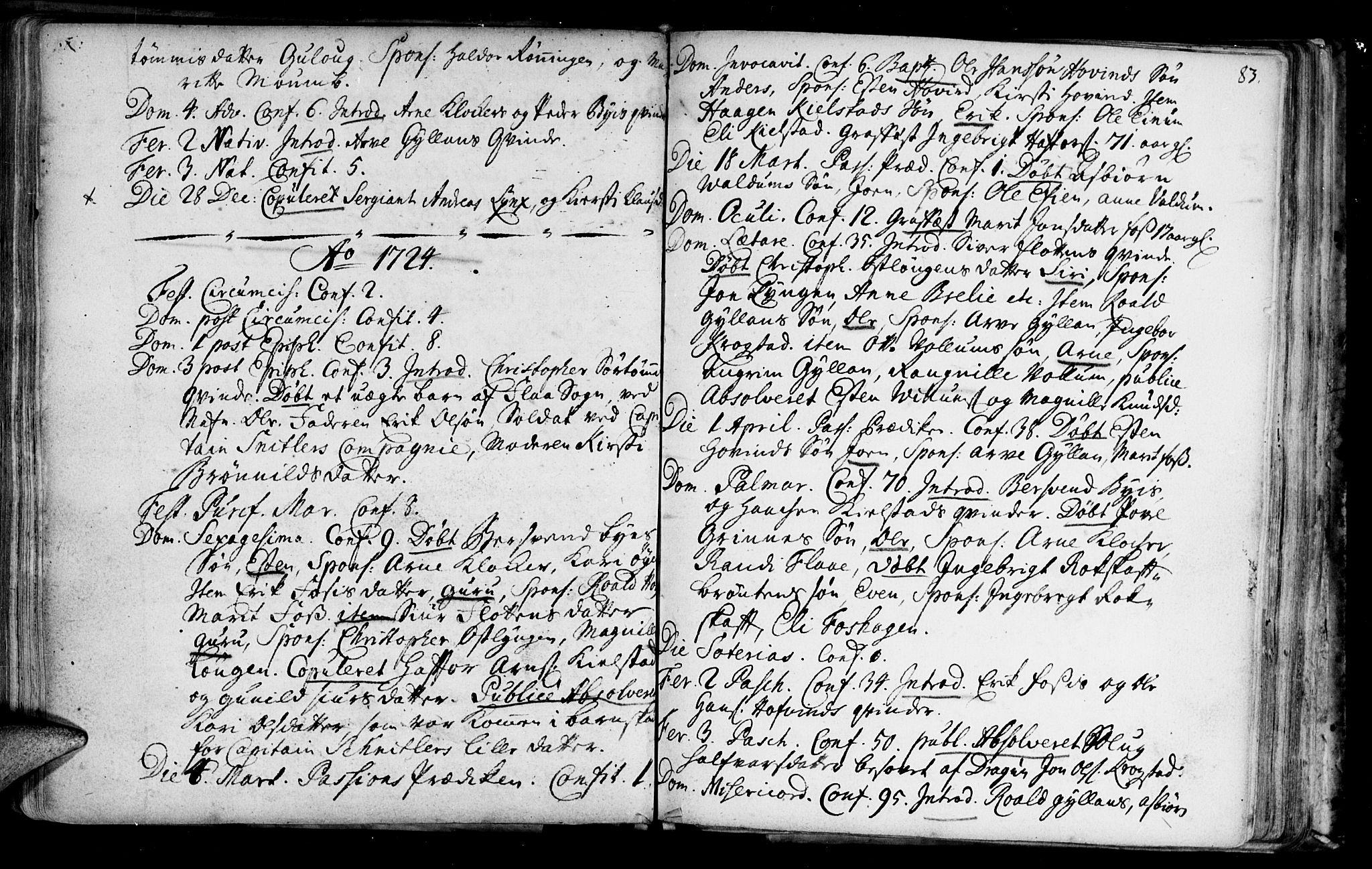 SAT, Ministerialprotokoller, klokkerbøker og fødselsregistre - Sør-Trøndelag, 692/L1101: Ministerialbok nr. 692A01, 1690-1746, s. 83