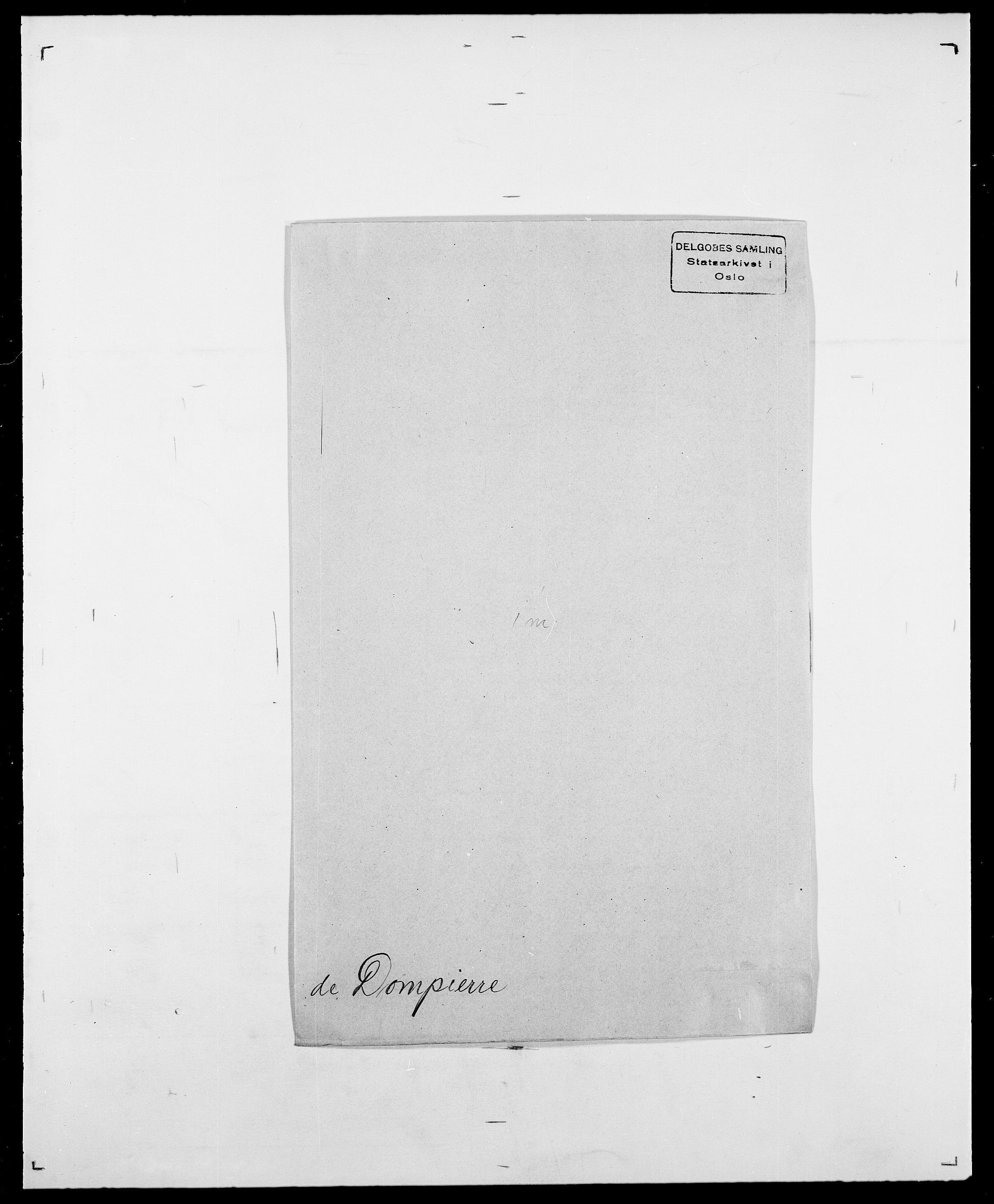 SAO, Delgobe, Charles Antoine - samling, D/Da/L0009: Dahl - v. Düren, s. 649