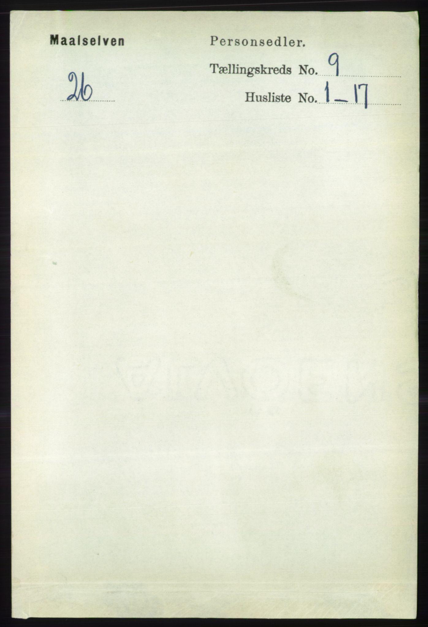RA, Folketelling 1891 for 1924 Målselv herred, 1891, s. 2741