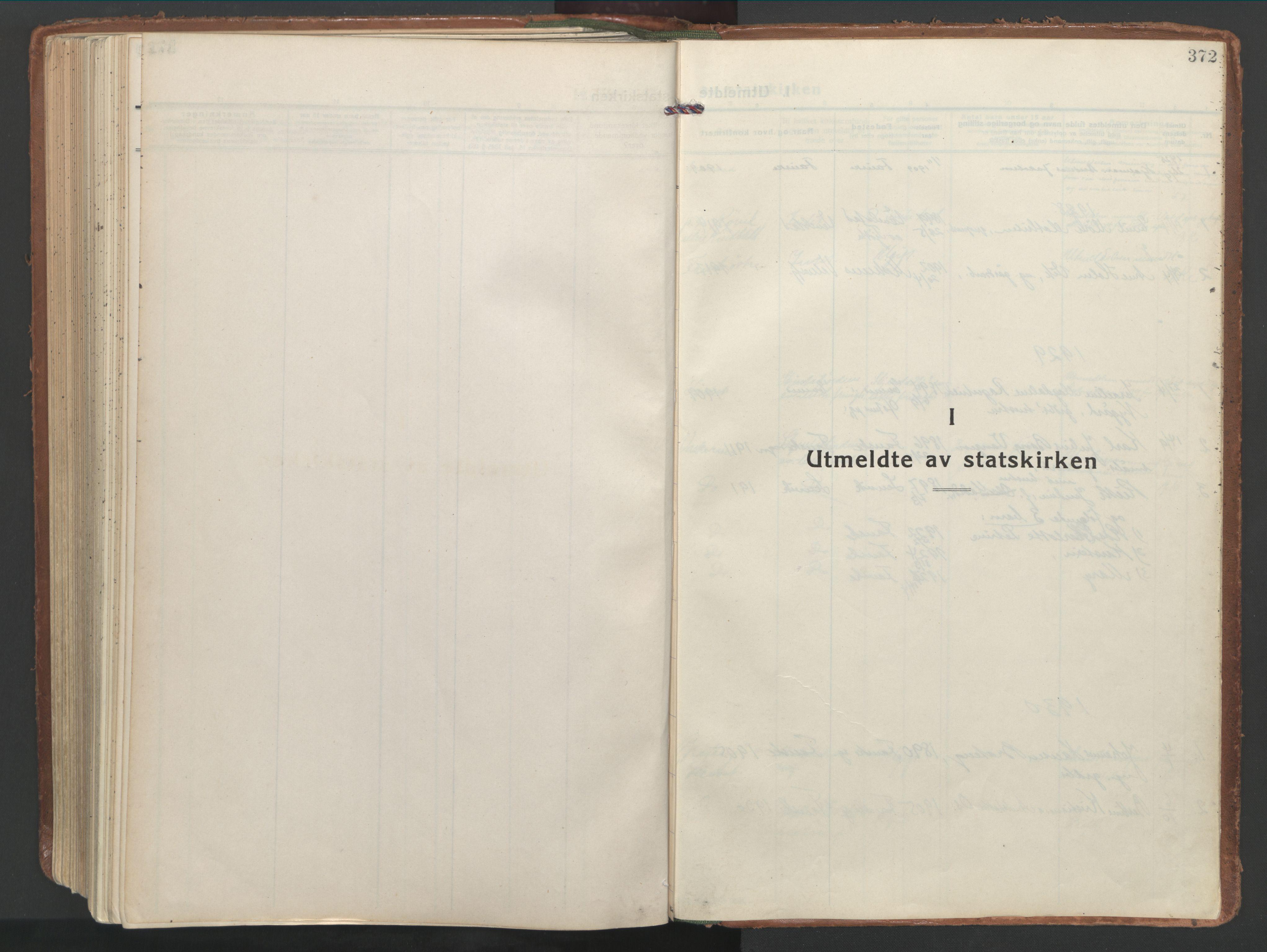 SAT, Ministerialprotokoller, klokkerbøker og fødselsregistre - Nordland, 849/L0699: Ministerialbok nr. 849A10, 1924-1937, s. 372