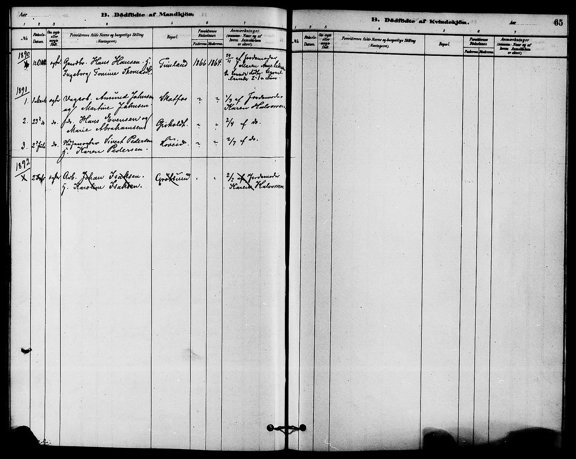 SAKO, Solum kirkebøker, F/Fb/L0001: Ministerialbok nr. II 1, 1877-1892, s. 65