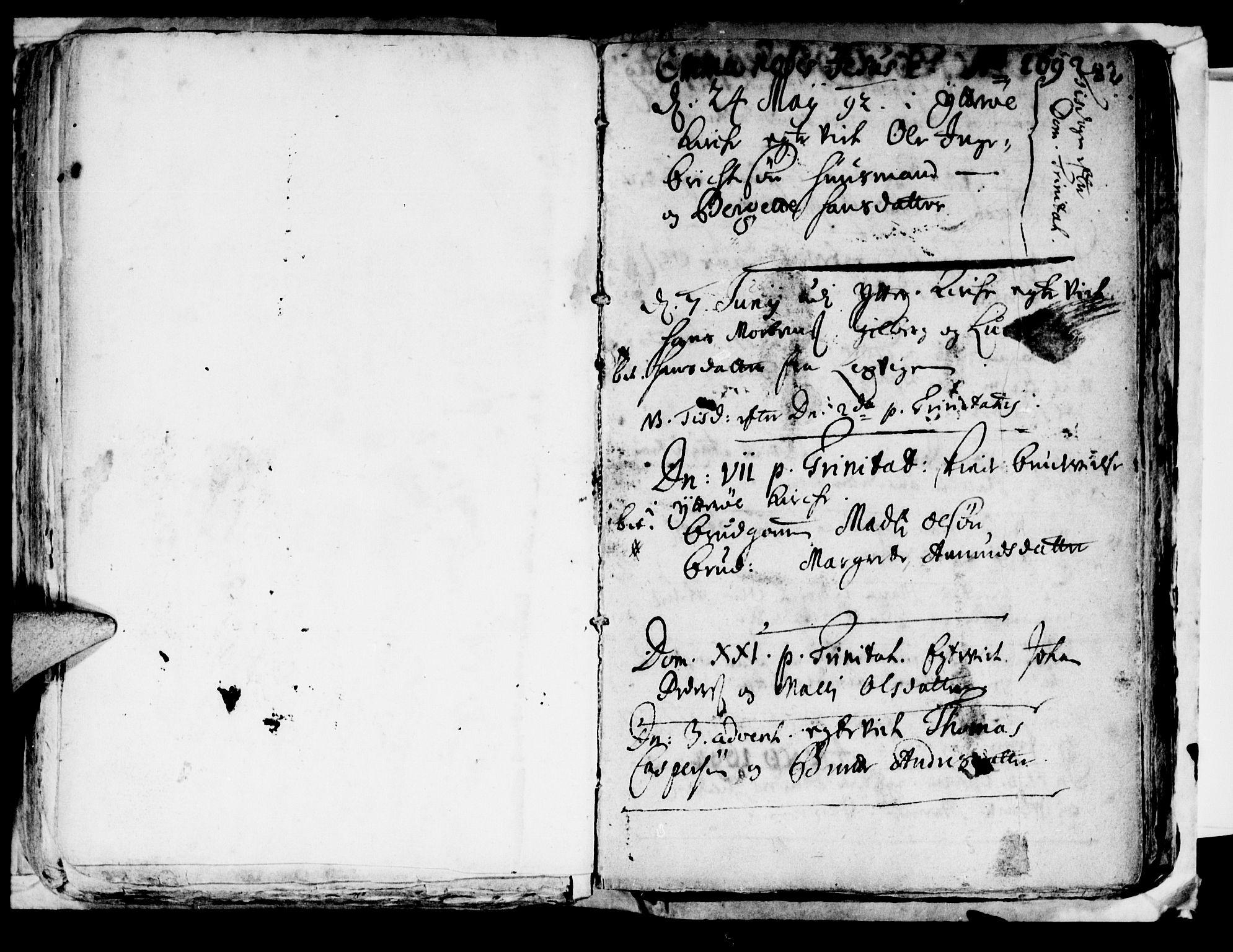 SAT, Ministerialprotokoller, klokkerbøker og fødselsregistre - Nord-Trøndelag, 722/L0214: Ministerialbok nr. 722A01, 1692-1718, s. 82