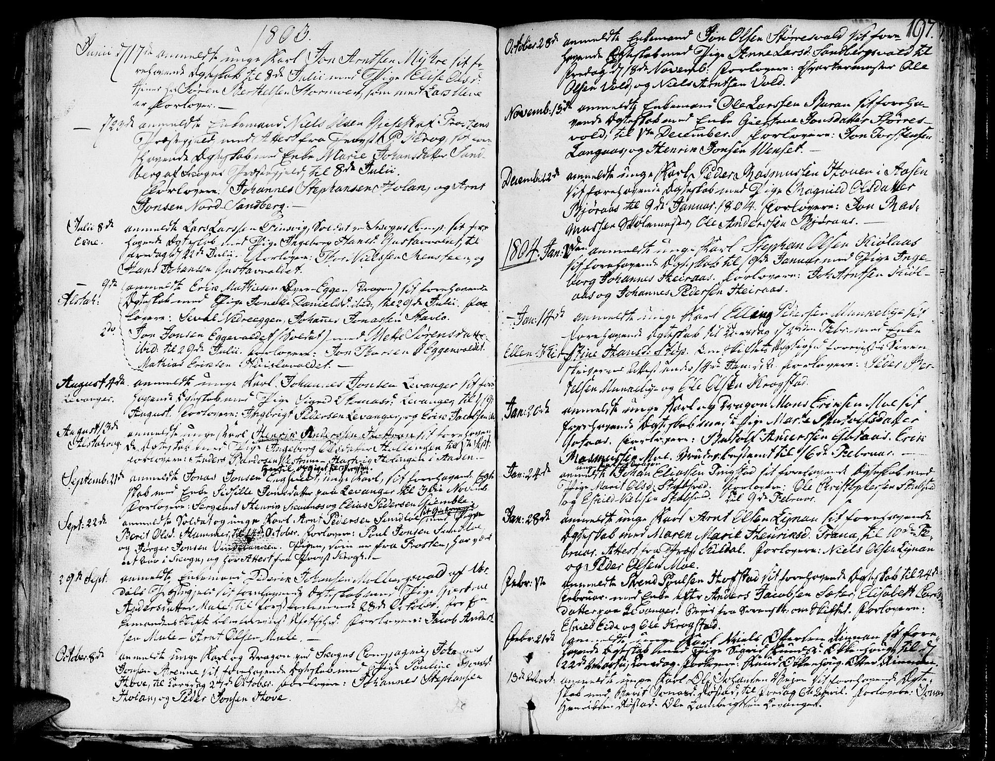 SAT, Ministerialprotokoller, klokkerbøker og fødselsregistre - Nord-Trøndelag, 717/L0142: Ministerialbok nr. 717A02 /1, 1783-1809, s. 197