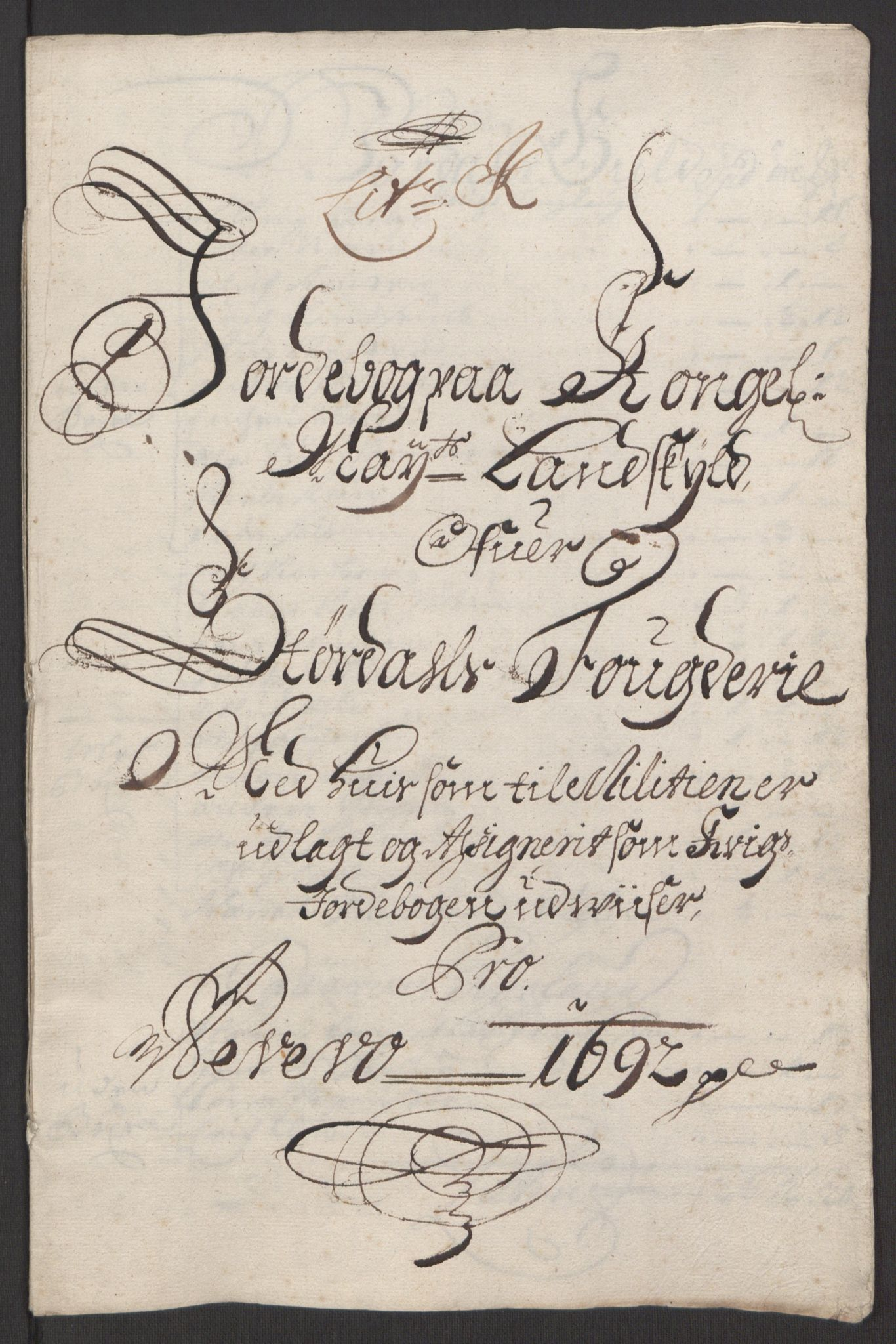 RA, Rentekammeret inntil 1814, Reviderte regnskaper, Fogderegnskap, R62/L4185: Fogderegnskap Stjørdal og Verdal, 1692, s. 171