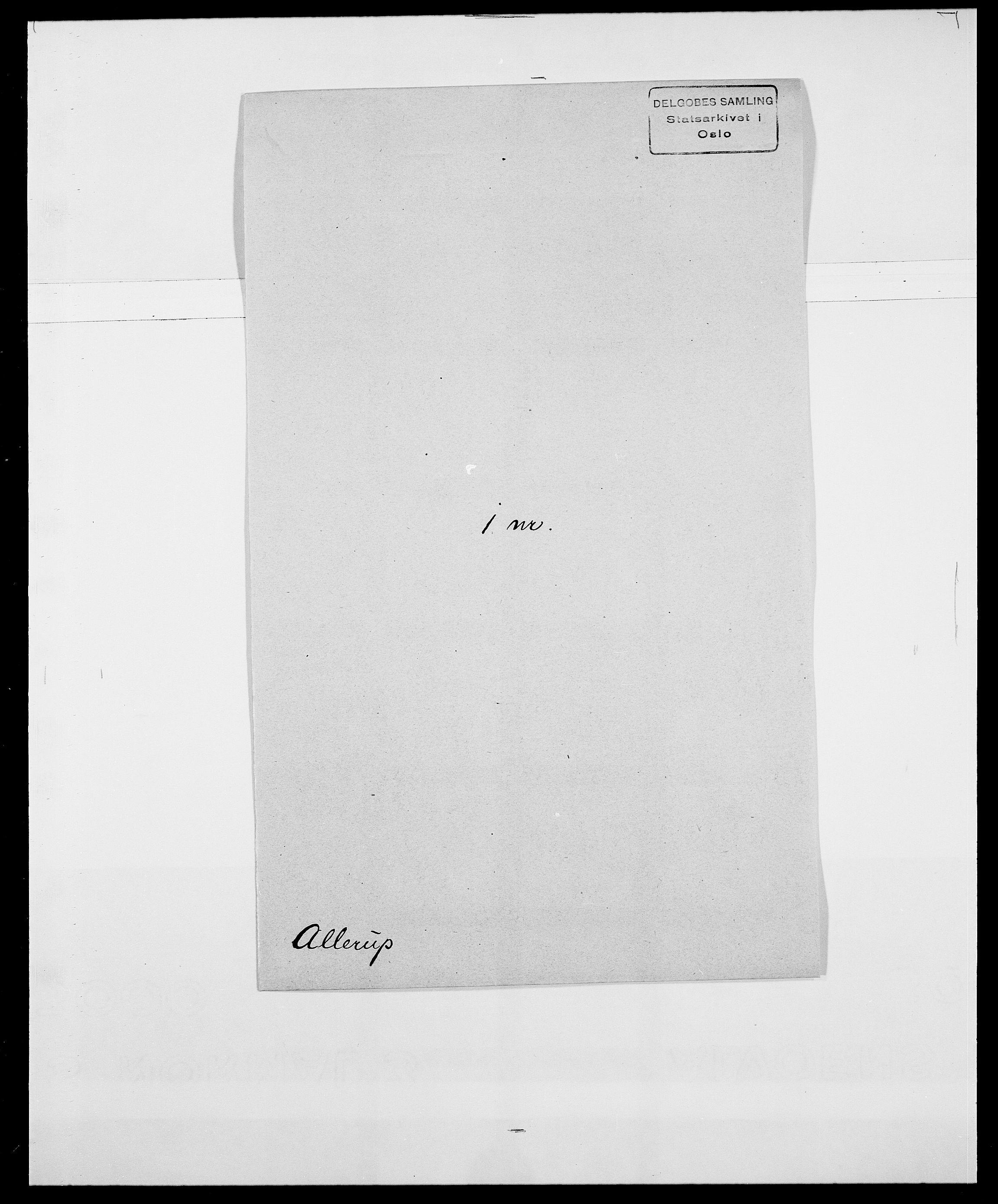 SAO, Delgobe, Charles Antoine - samling, D/Da/L0001: Aabye - Angerman, s. 422