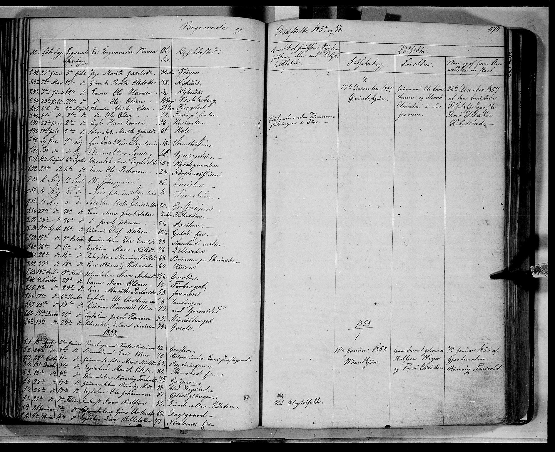 SAH, Lom prestekontor, K/L0006: Ministerialbok nr. 6B, 1837-1863, s. 474